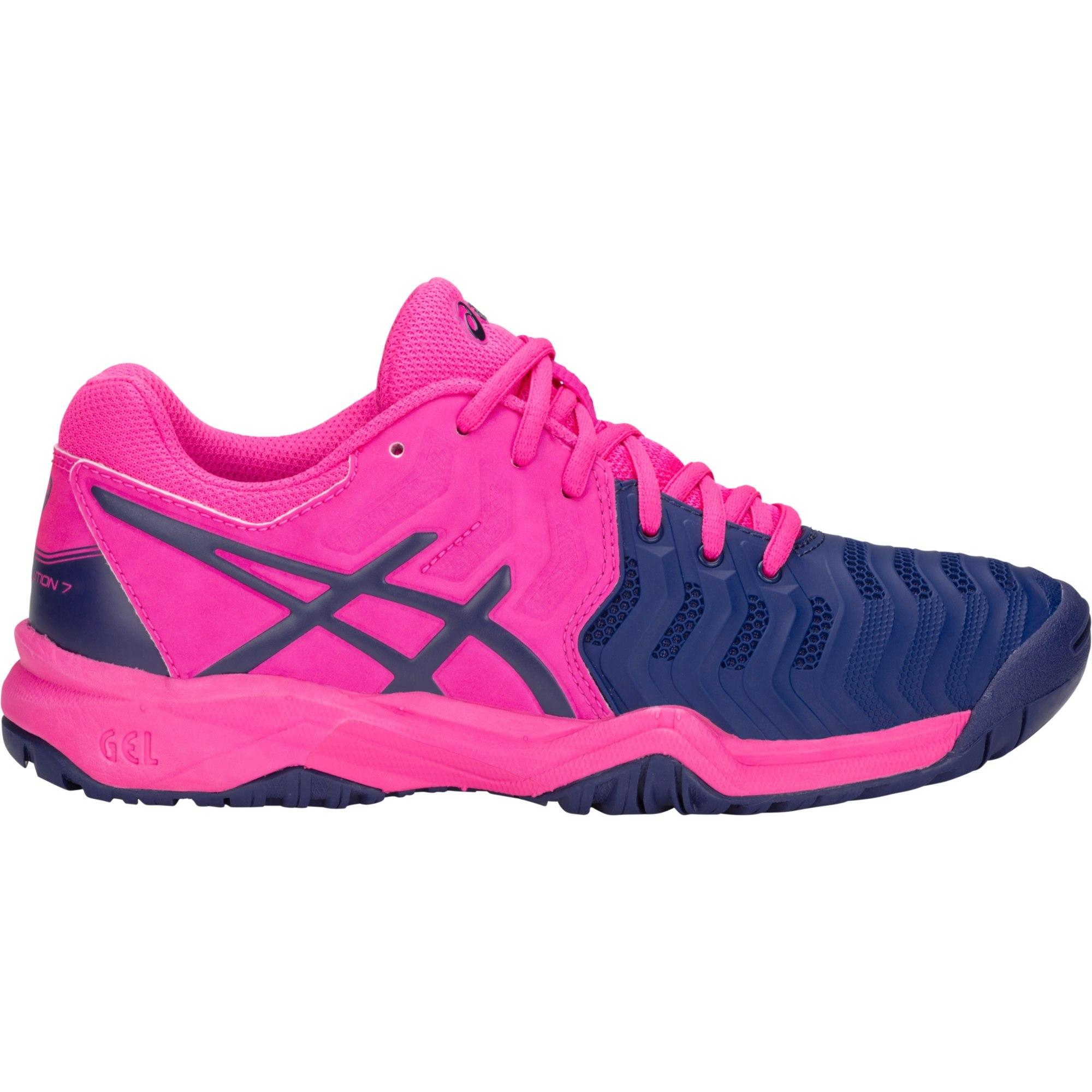 8fe09b170089 Asics Kids GEL-Resolution 7 GS Tennis Shoes - Pink Glow Blue Print -  Tennisnuts.com