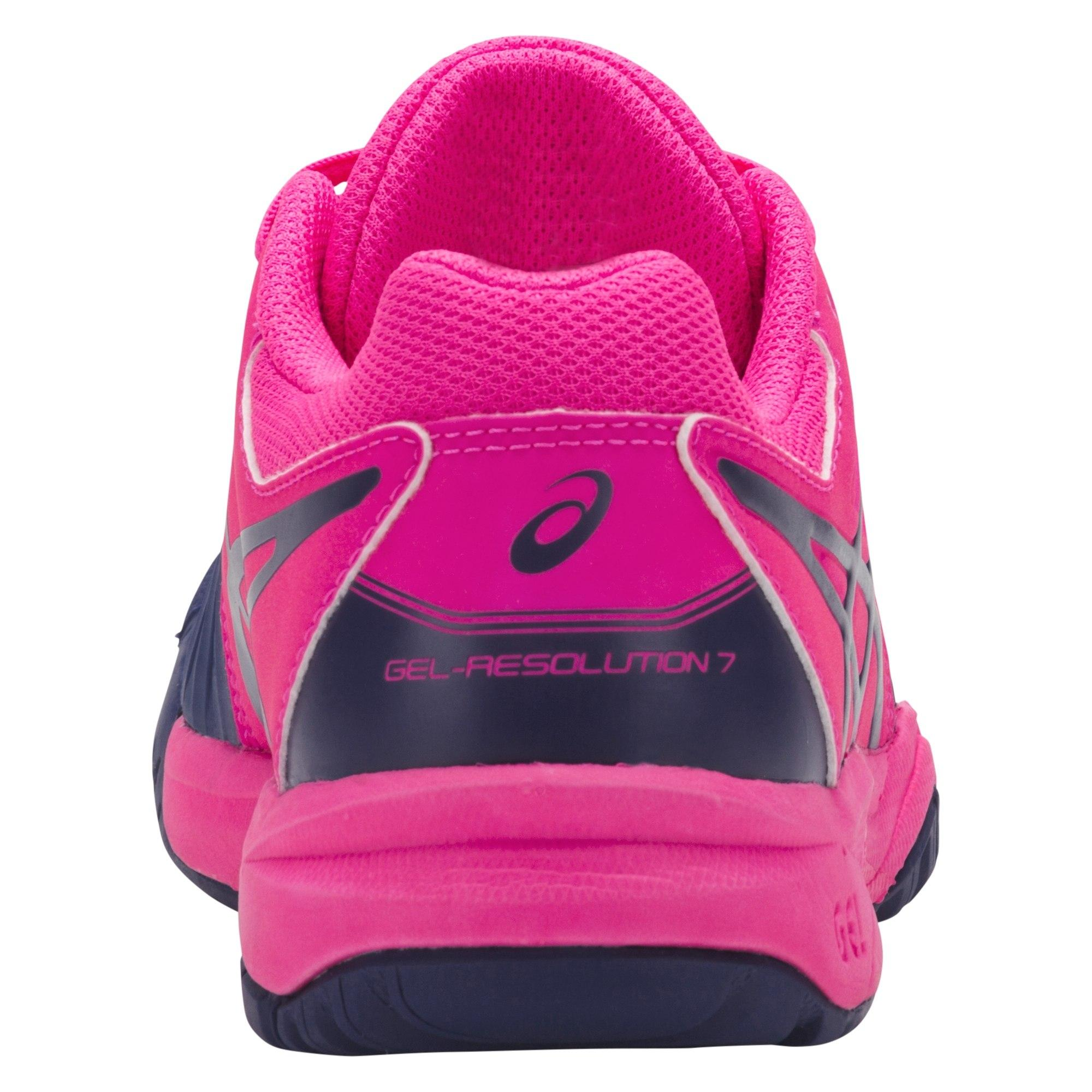 5bfff57de575 Asics Kids GEL-Resolution 7 GS Tennis Shoes - Pink Glow Blue Print ...