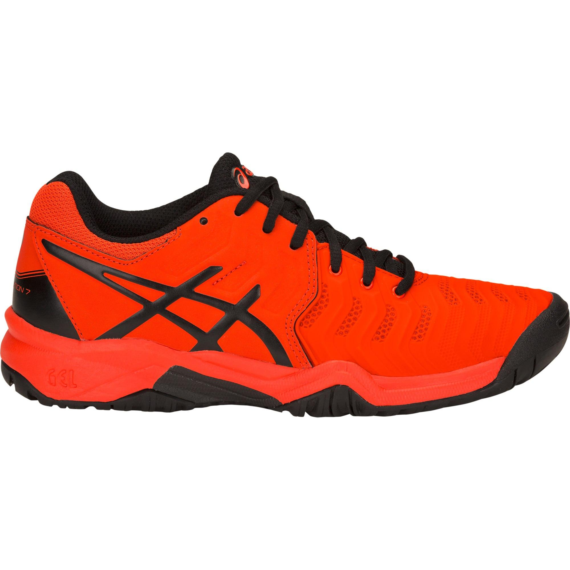 new styles 00468 c2553 Asics Kids GEL-Resolution 7 GS Tennis Shoes - Cherry Tomato Black