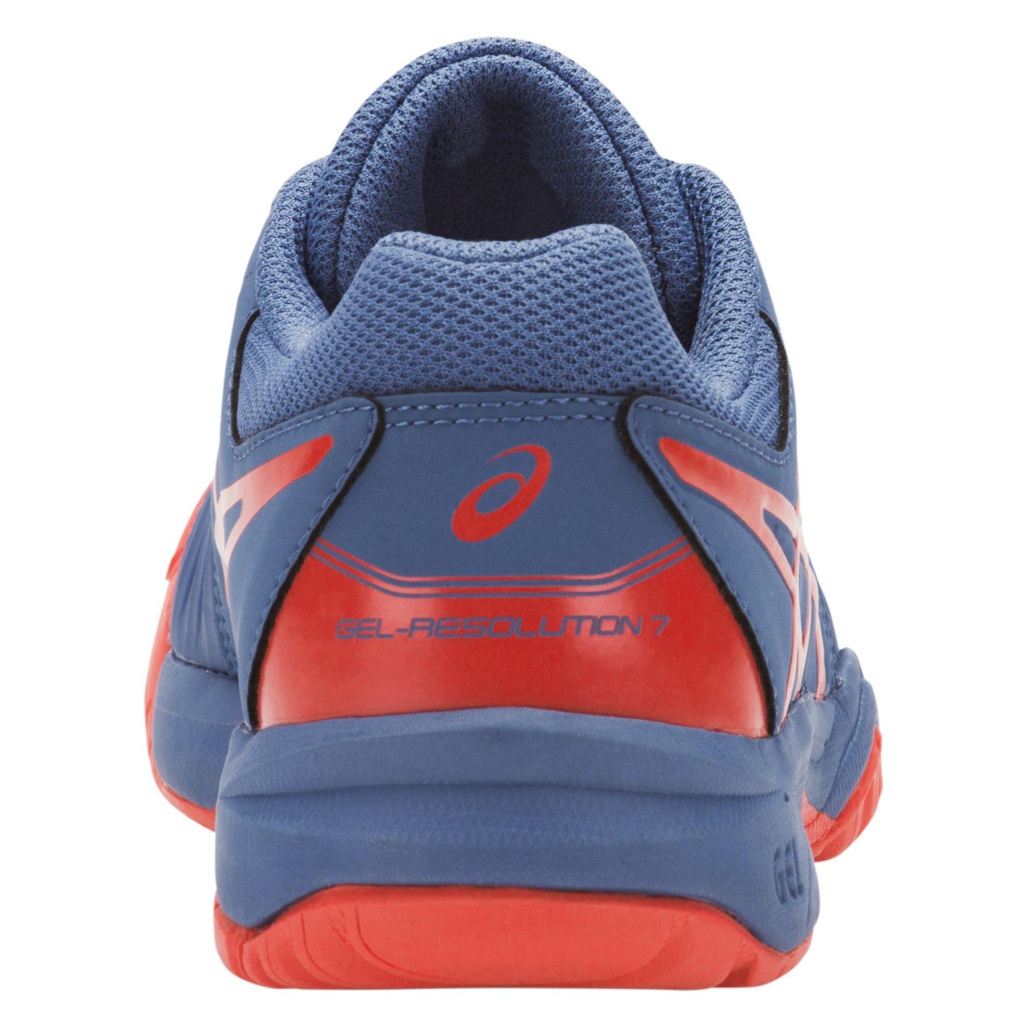 Asics Kids GEL-Resolution 7 GS Tennis Shoes - Azure Red Alert ... 8423f27b3ae