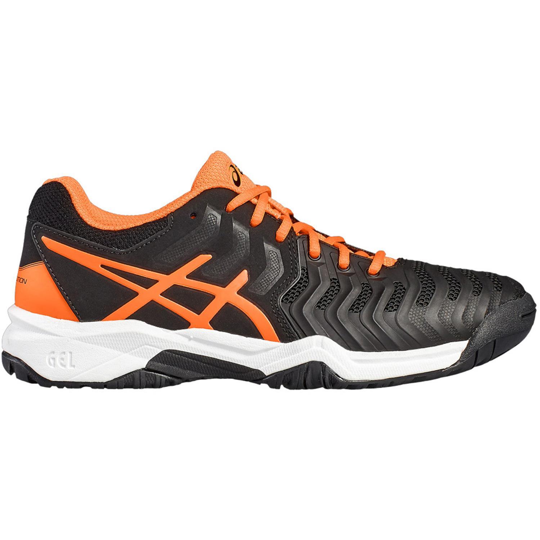 best service cec09 23ae5 Asics Kids GEL-Resolution 7 GS Tennis Shoes - Black Orange - Tennisnuts.com
