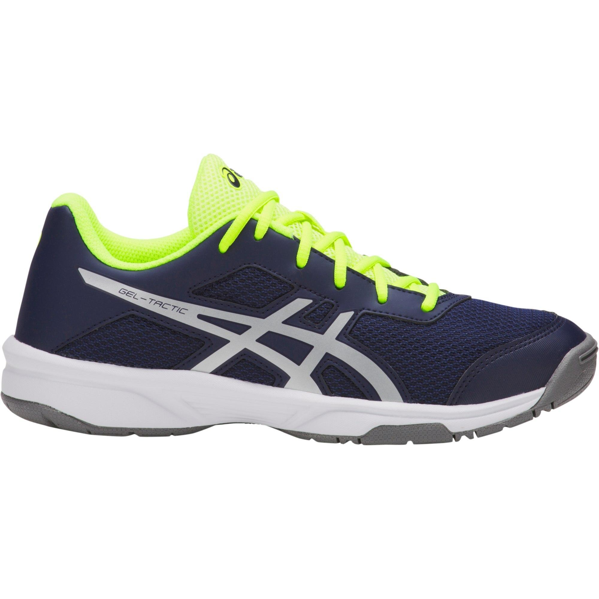 76262509c Asics Kids GEL-Tactic Indoor Court Shoes - Peacoat/Silver - Tennisnuts.com