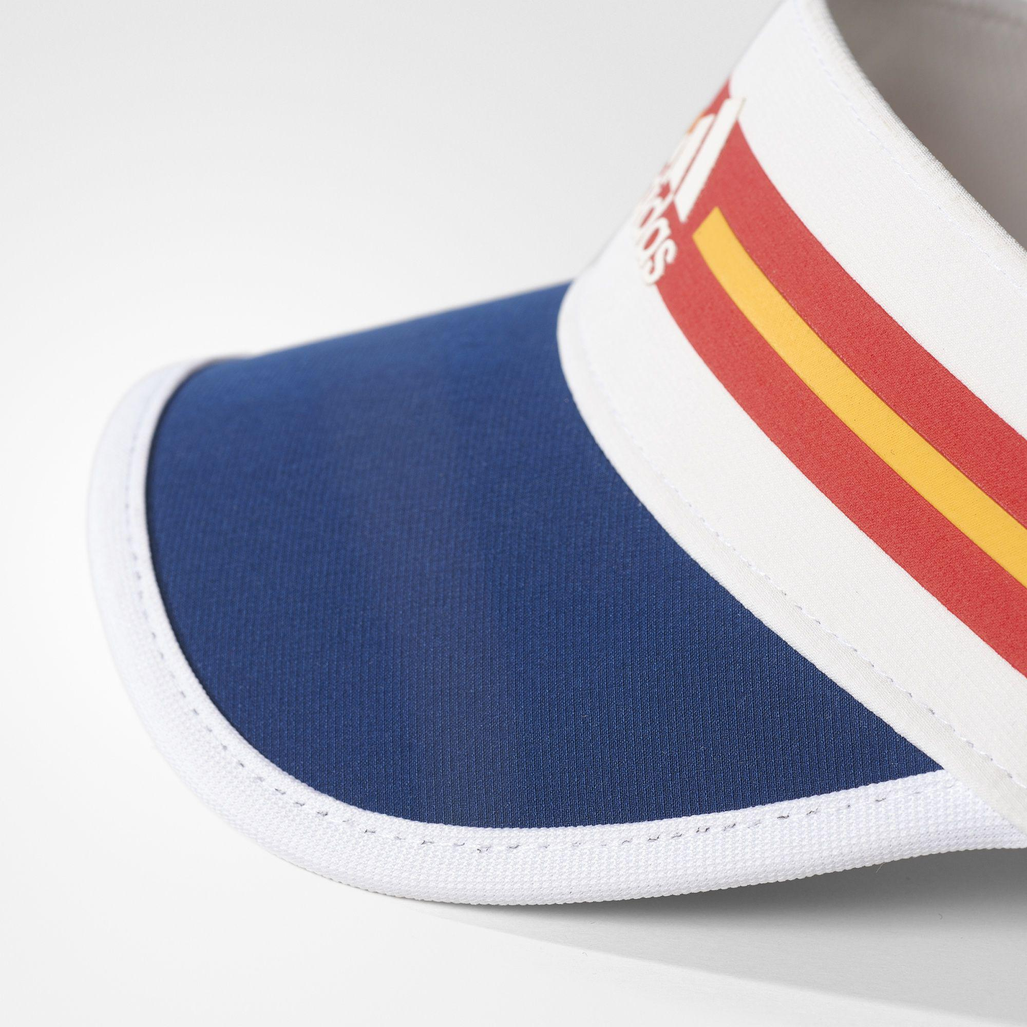 bbba18f0022 Adidas Womens New York Climalite Visor - White Multi-Colour ...