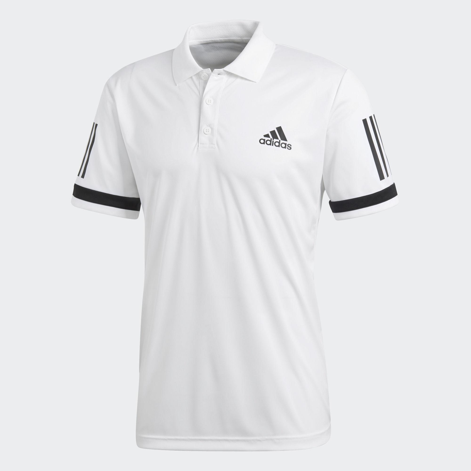 low priced 7ac81 7c746 Adidas Mens 3-Stripes Club Polo - White