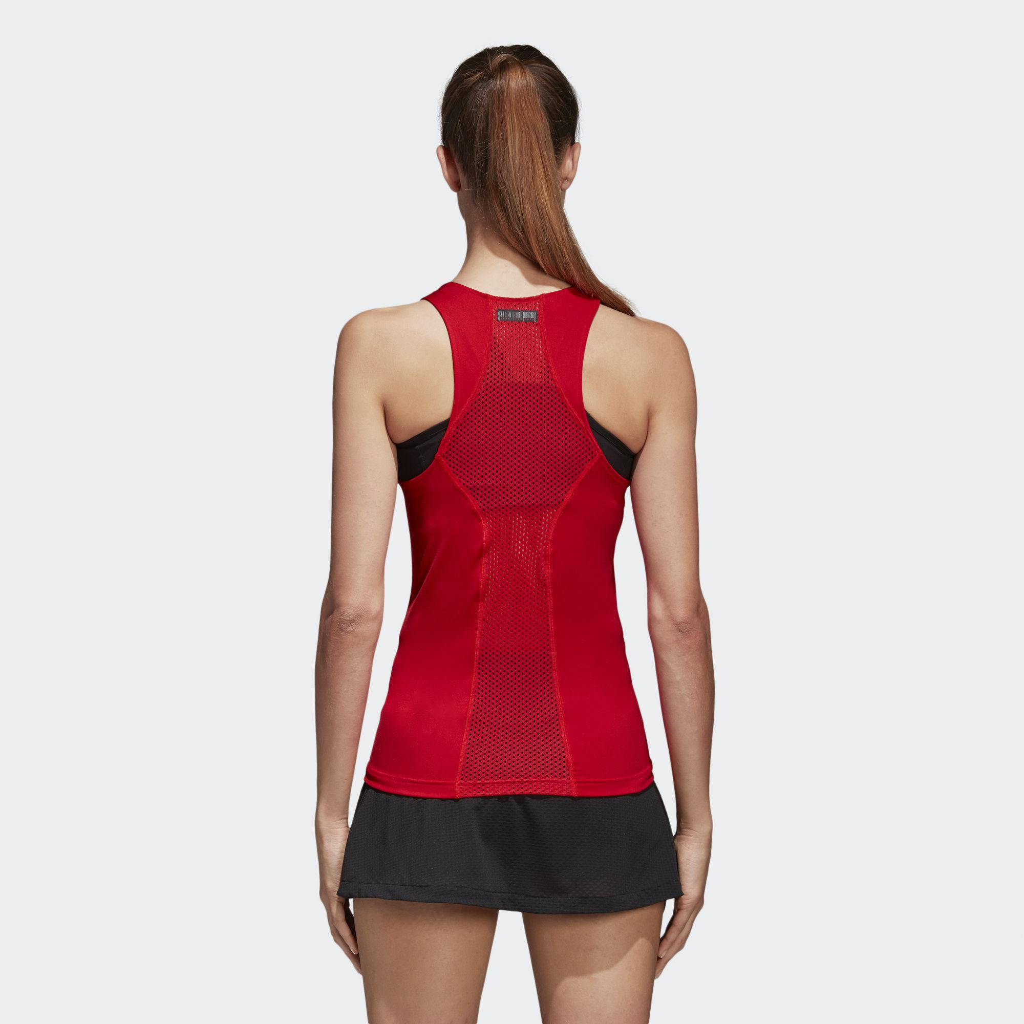 Adidas Womens Barricade Tank - Red - Tennisnuts.com