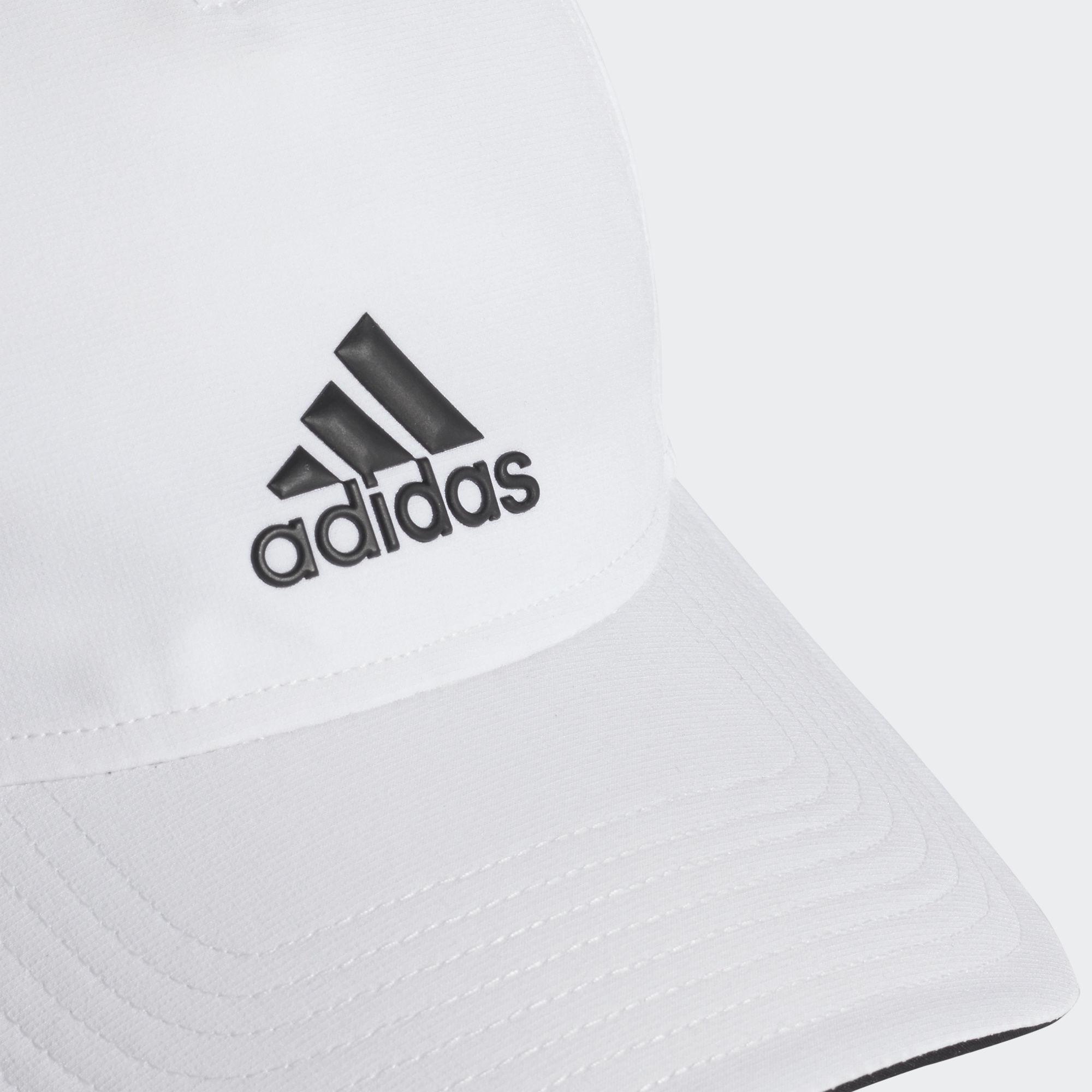 9ae9ad484b6 Adidas Adult 5 Panel Climalite Cap - White - Tennisnuts.com