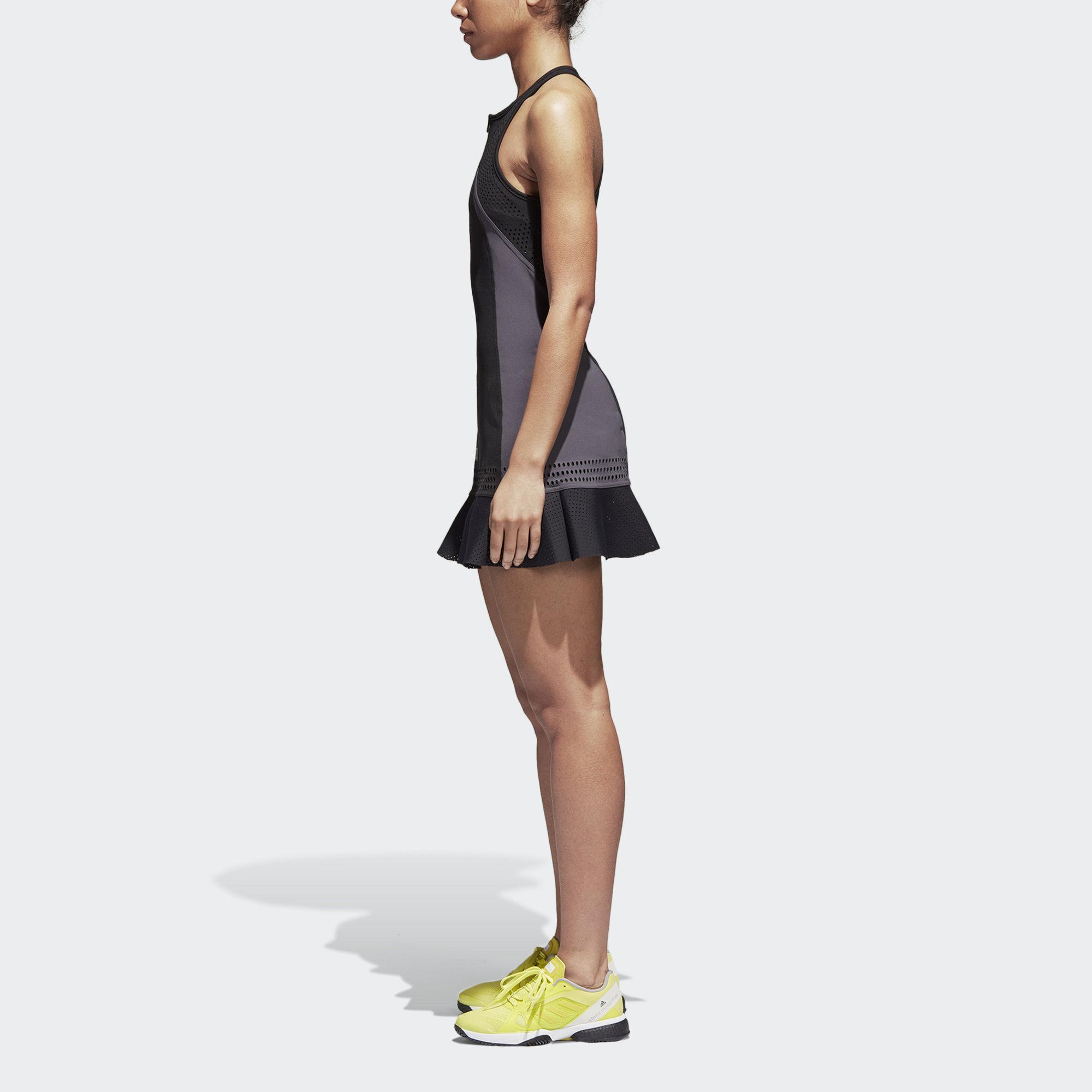 80e8bd3d26fb5 Adidas Womens Stella McCartney Barricade Dress - Black - Tennisnuts.com