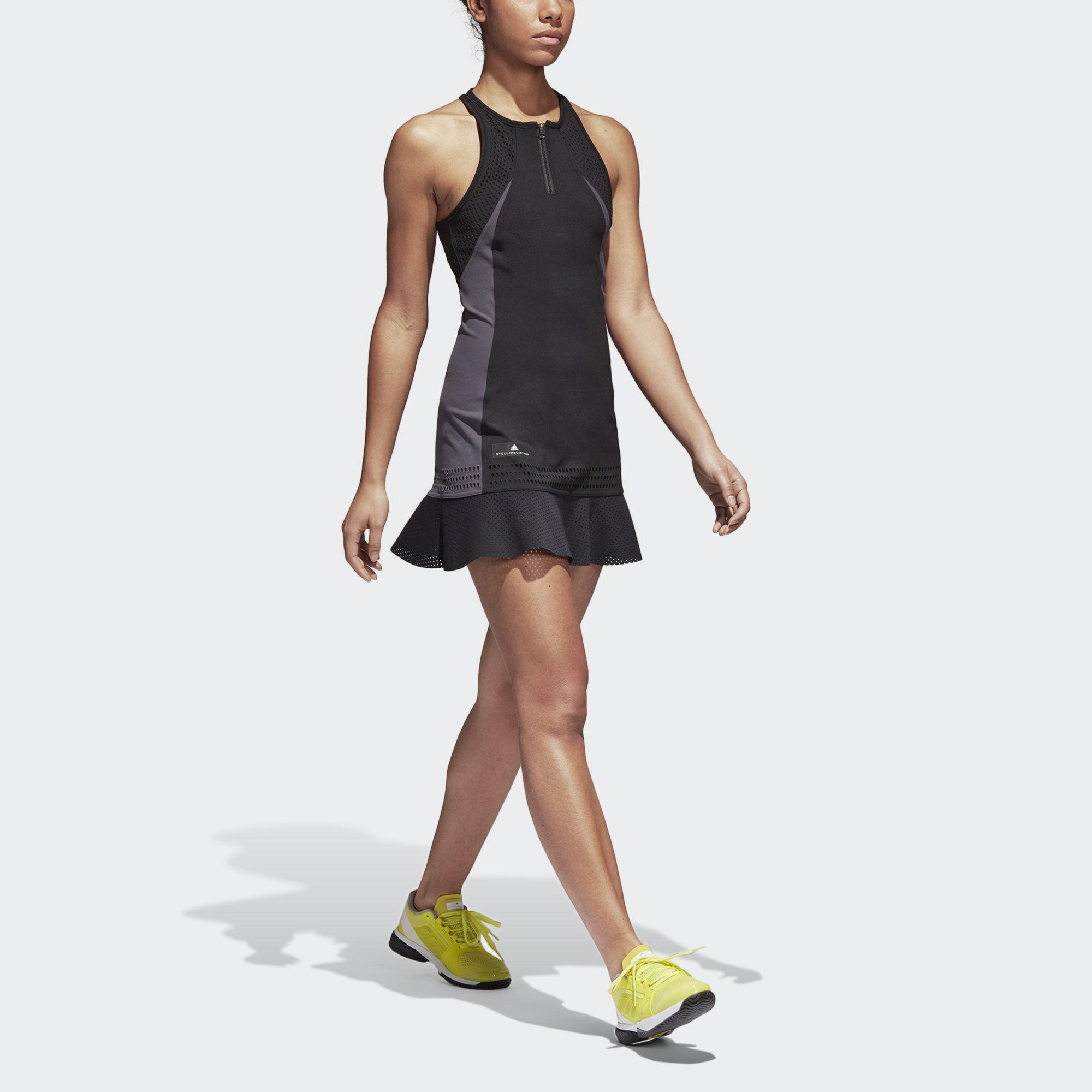 80f08a686e6 Adidas Womens Stella McCartney Barricade Dress - Black - Tennisnuts.com