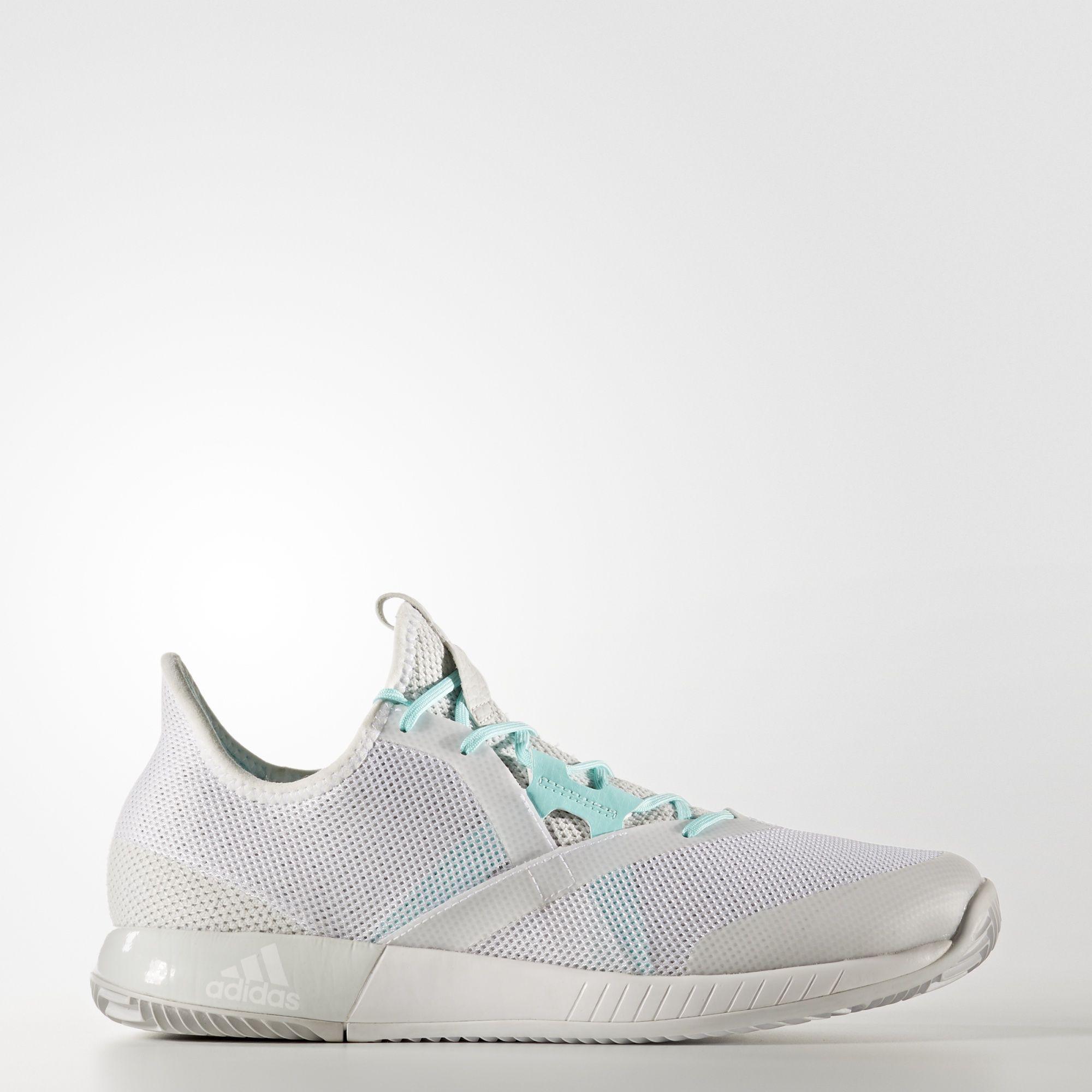 745ac91b6dc68 Adidas Womens Adizero Defiant Bounce Tennis Shoes - White - Tennisnuts.com
