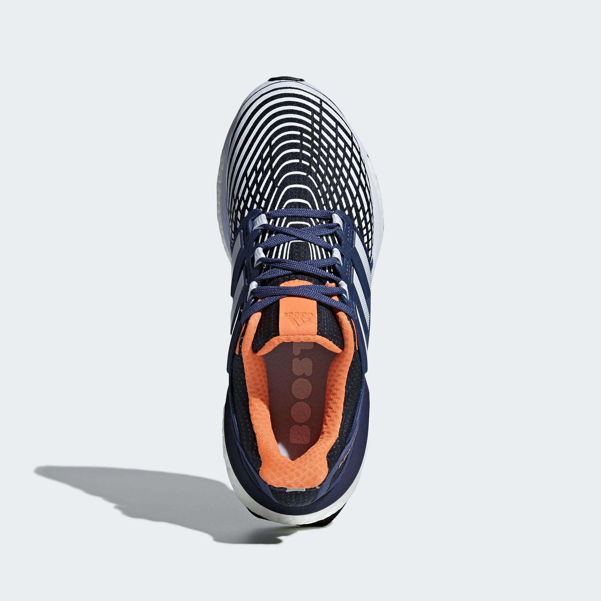 97fed2f08fc29 Adidas Womens Energy Boost Running Shoes - Blue Orange - Tennisnuts.com