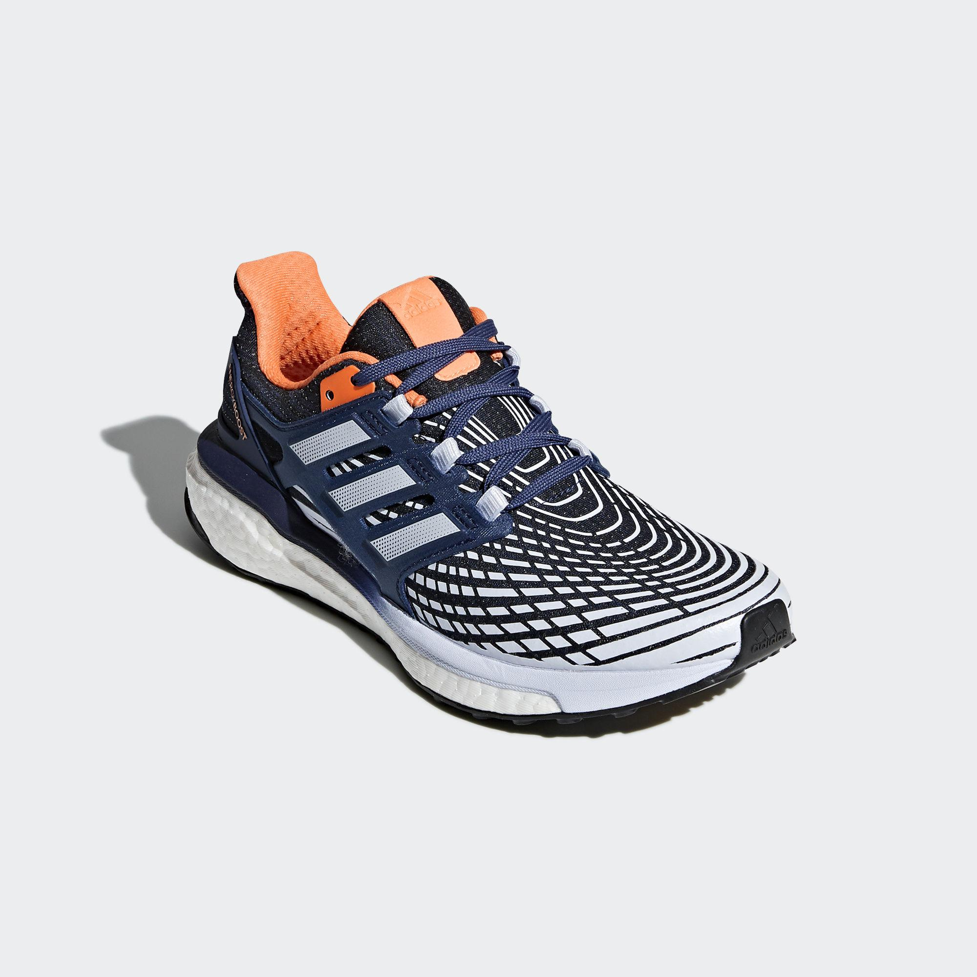 13bcd9e25 Adidas Womens Energy Boost Running Shoes - Blue Orange - Tennisnuts.com