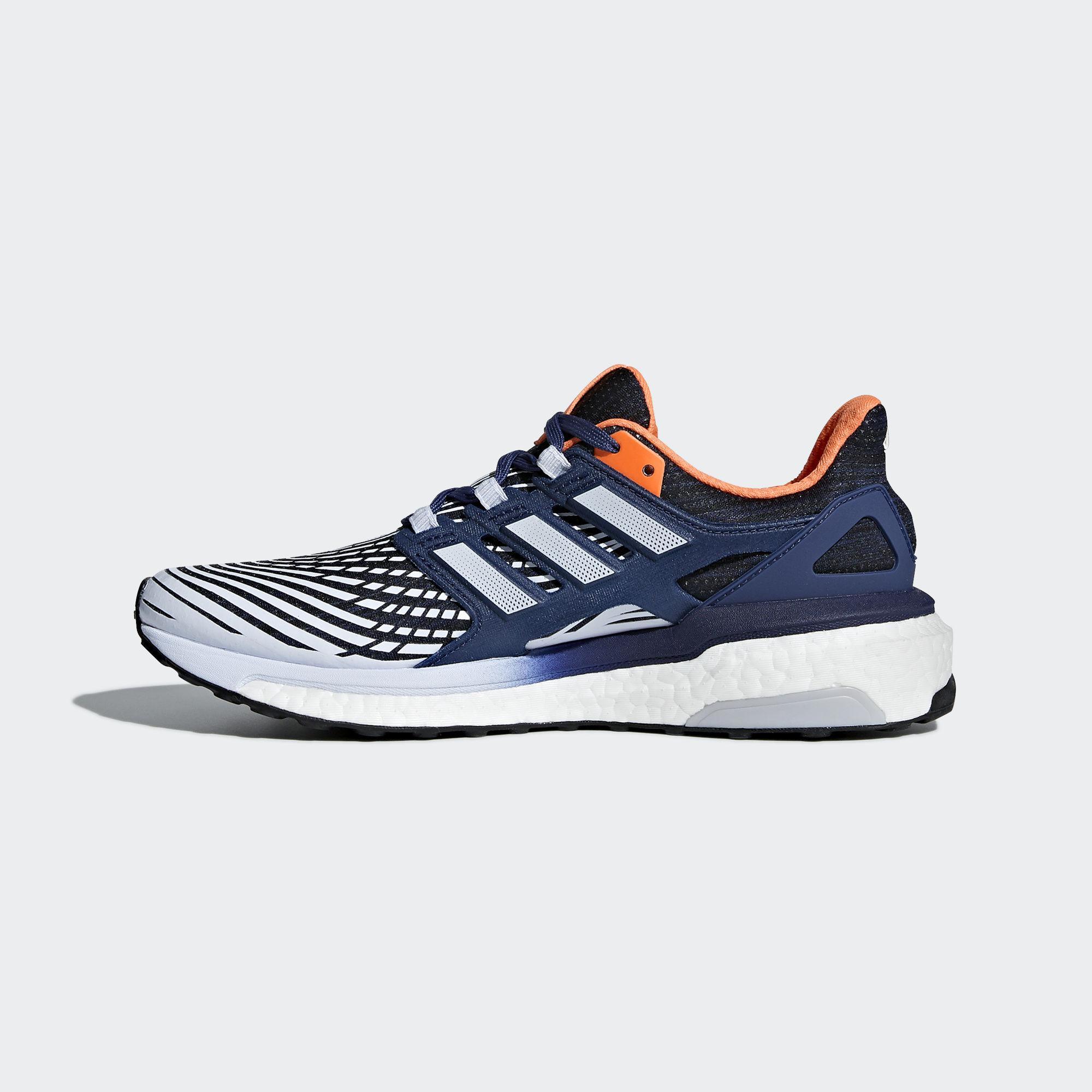 d07bfc3563e8 Adidas Womens Energy Boost Running Shoes - Blue Orange - Tennisnuts.com