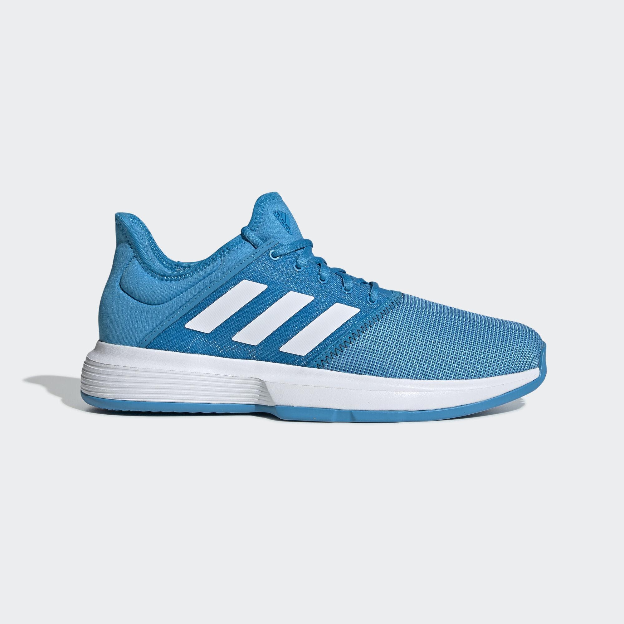 Adidas Mens GameCourt Tennis Shoes - Blue
