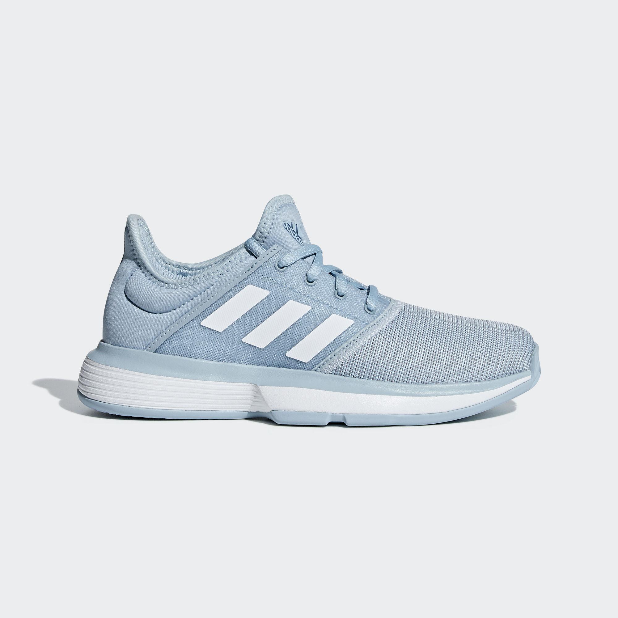 fcdd263ea54 Adidas Kids SoleCourt XJ Tennis Shoes - Ash Grey