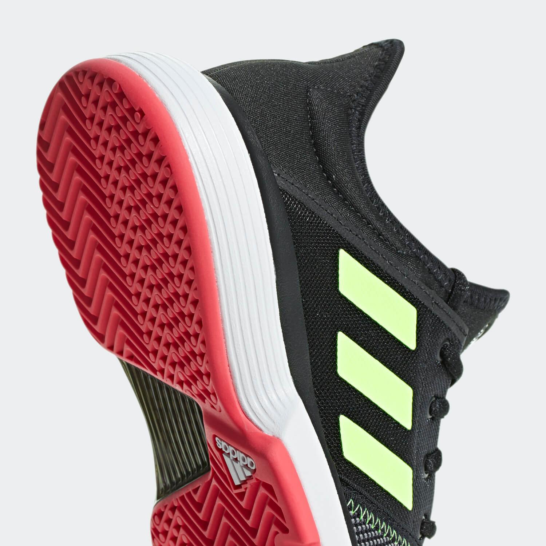 0584334b668 Adidas Kids SoleCourt XJ Tennis Shoes - Black/Red