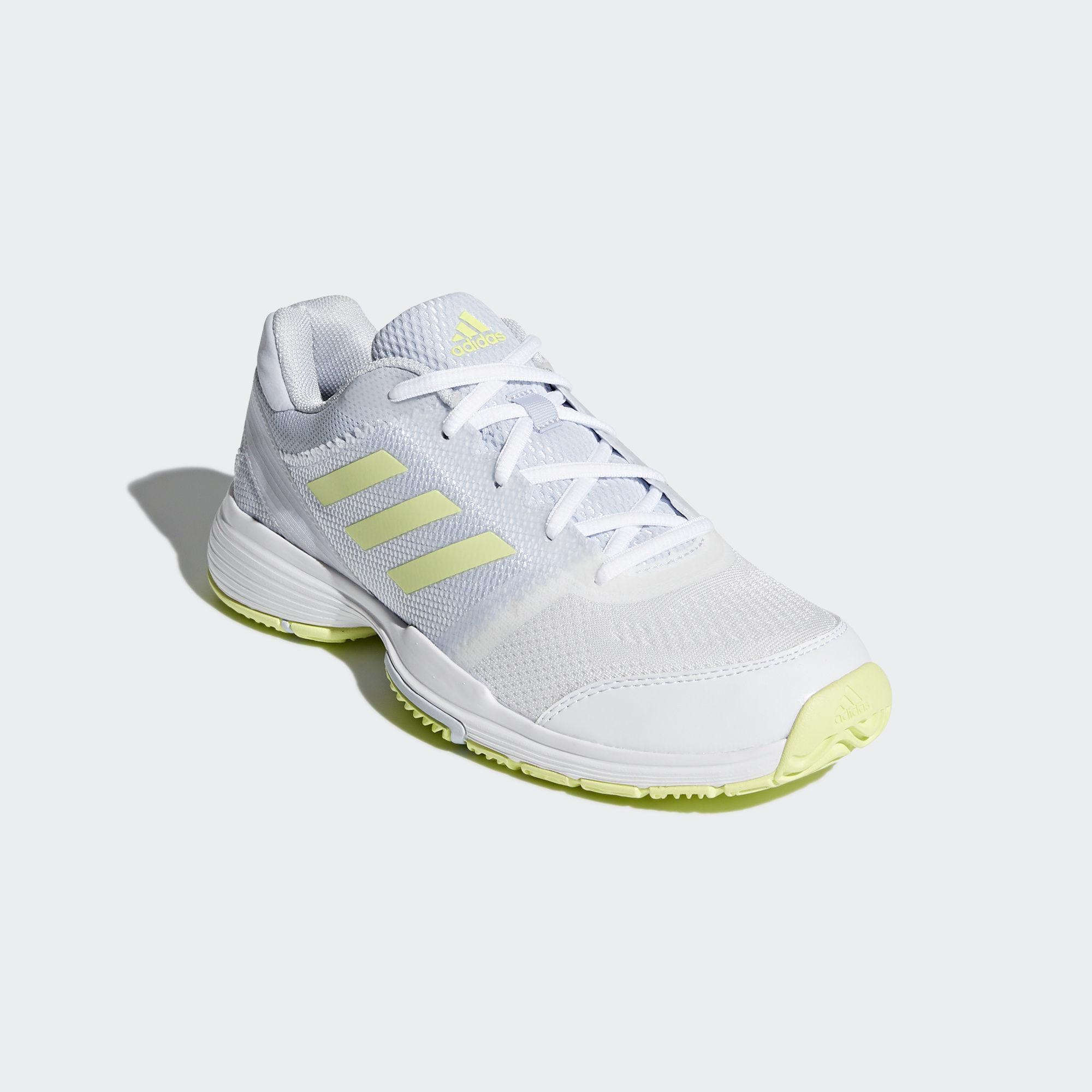 b644a5a971e Adidas Womens Barricade Club Tennis Shoes - White Blue Yellow ...