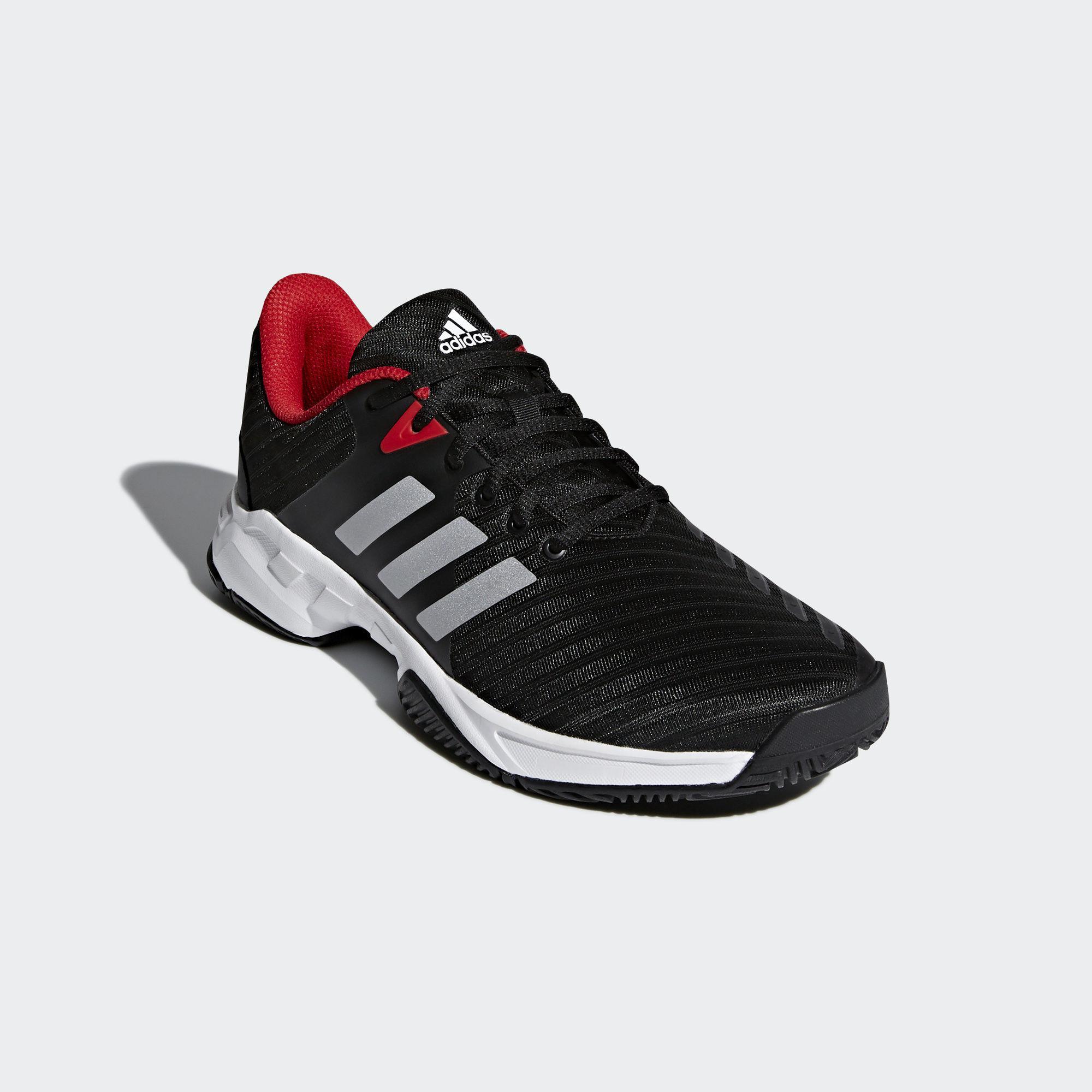 0ca7d8c1a1f0 Adidas Mens Barricade Court 3 Tennis Shoes - Black White ...