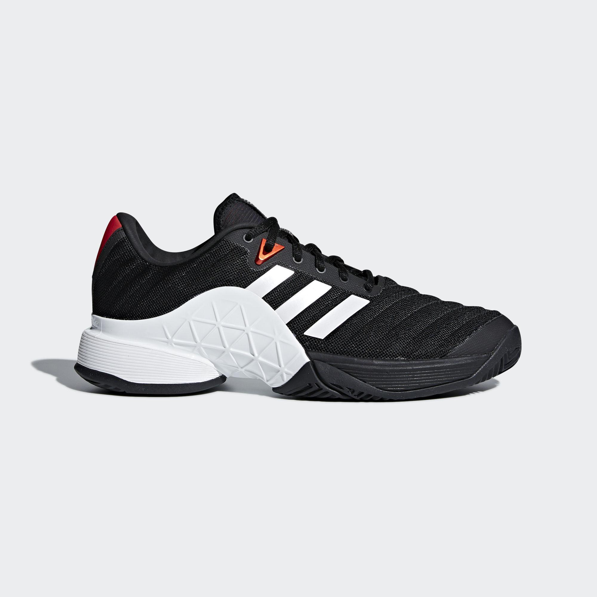 Adidas Mens Barricade 2018 Tennis Shoes - Black/White ...
