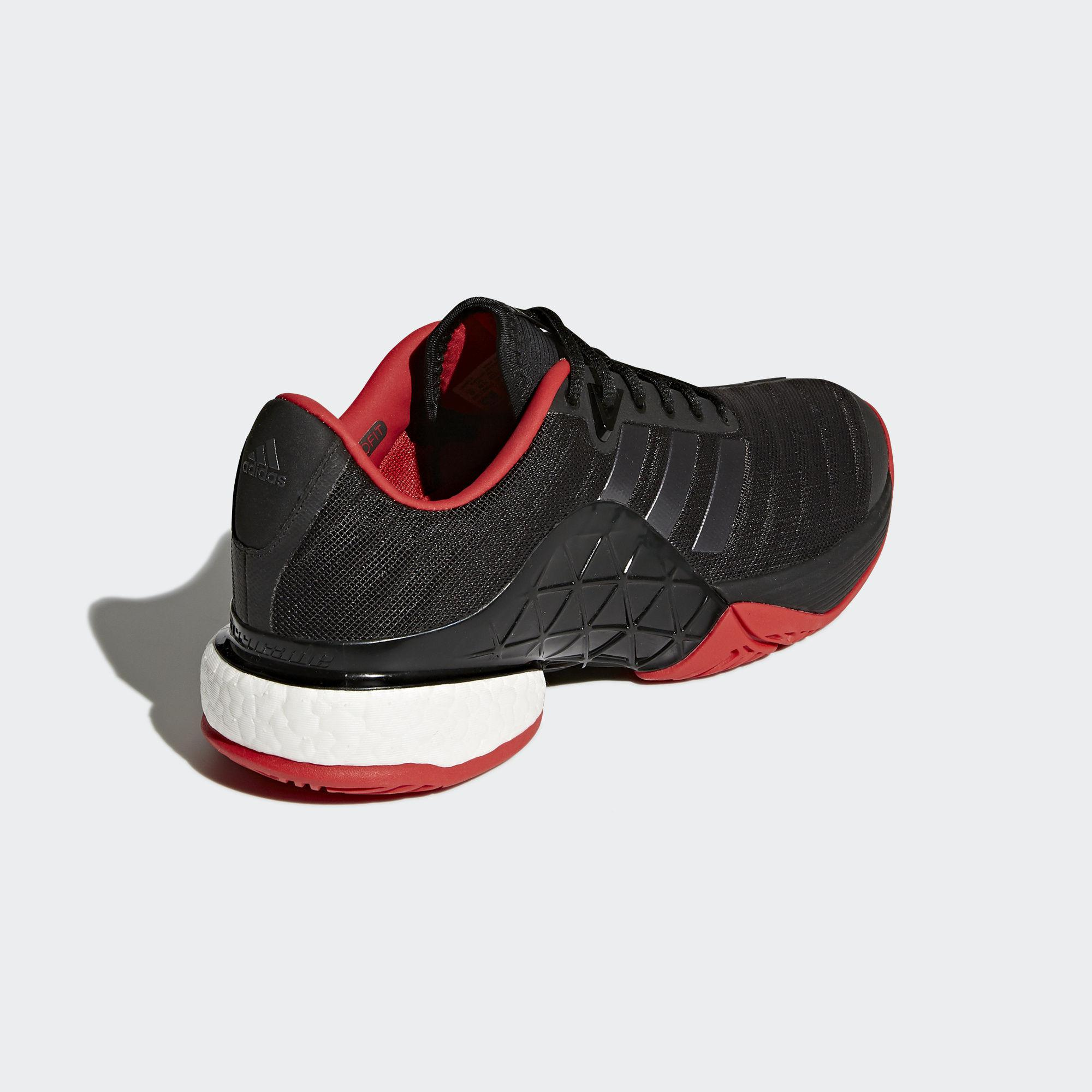 super popular 9ad31 44fe9 Adidas Mens Barricade Boost 2018 Tennis Shoes - Core Black Red