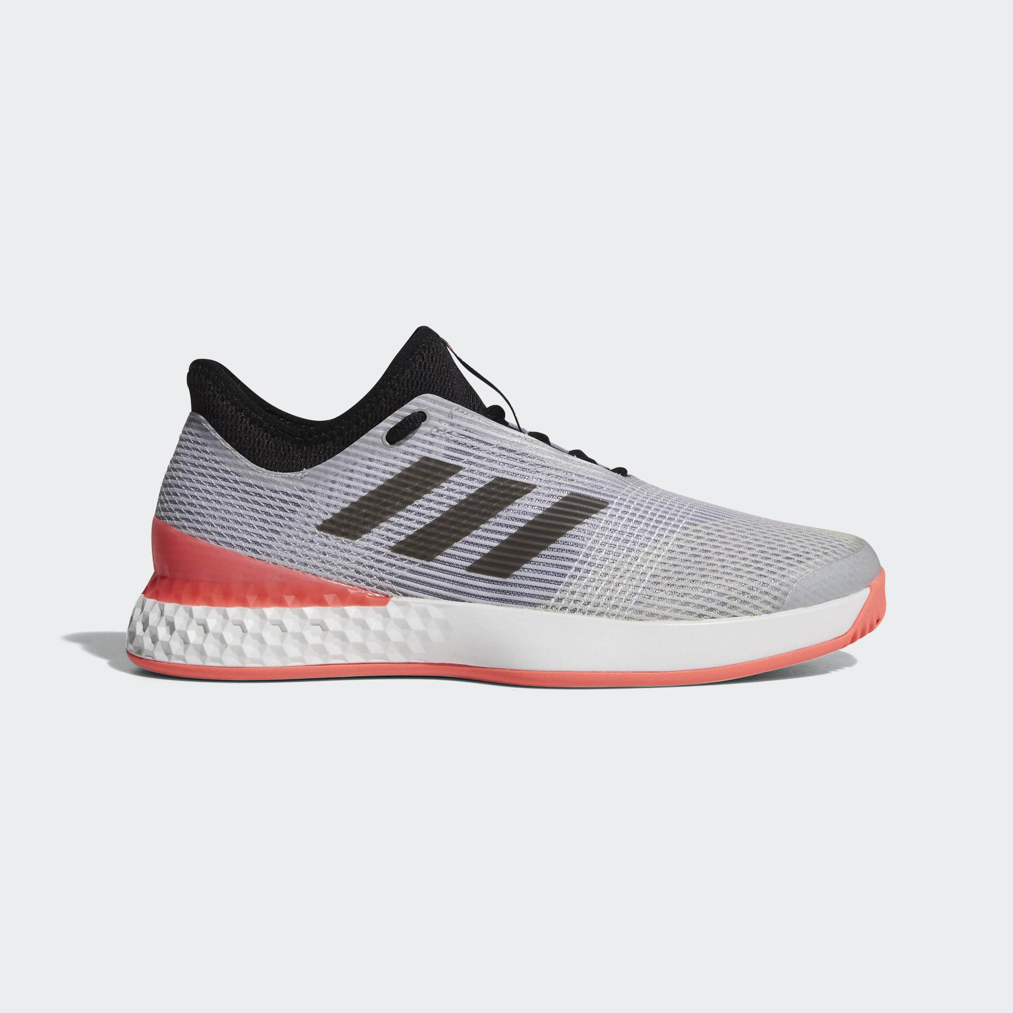 wholesale dealer 918e6 64052 Adidas Mens Adizero Ubersonic 3.0 Tennis Shoes - Matte SilverRed -  Tennisnuts.com