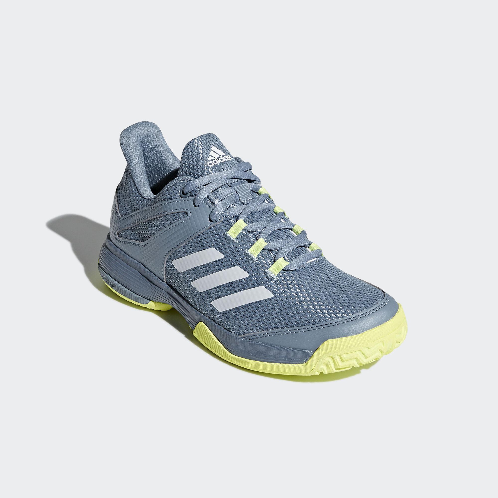Adidas Kids Adizero Club Tennis Shoes BlueYellow