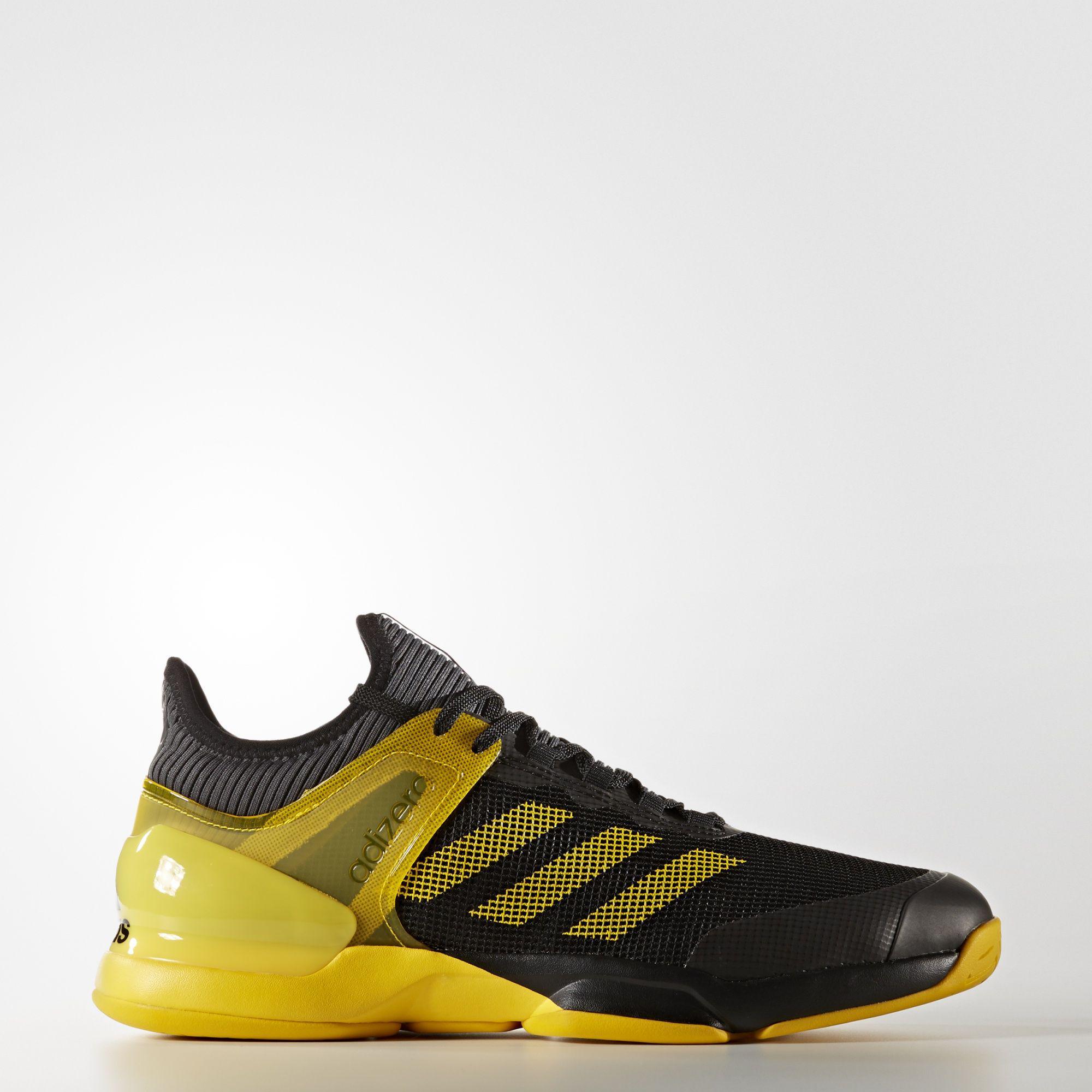 quality design 208b4 81726 Adidas Mens Adizero Ubersonic 2.0 Tennis Shoes - BlackYellow -  Tennisnuts.com