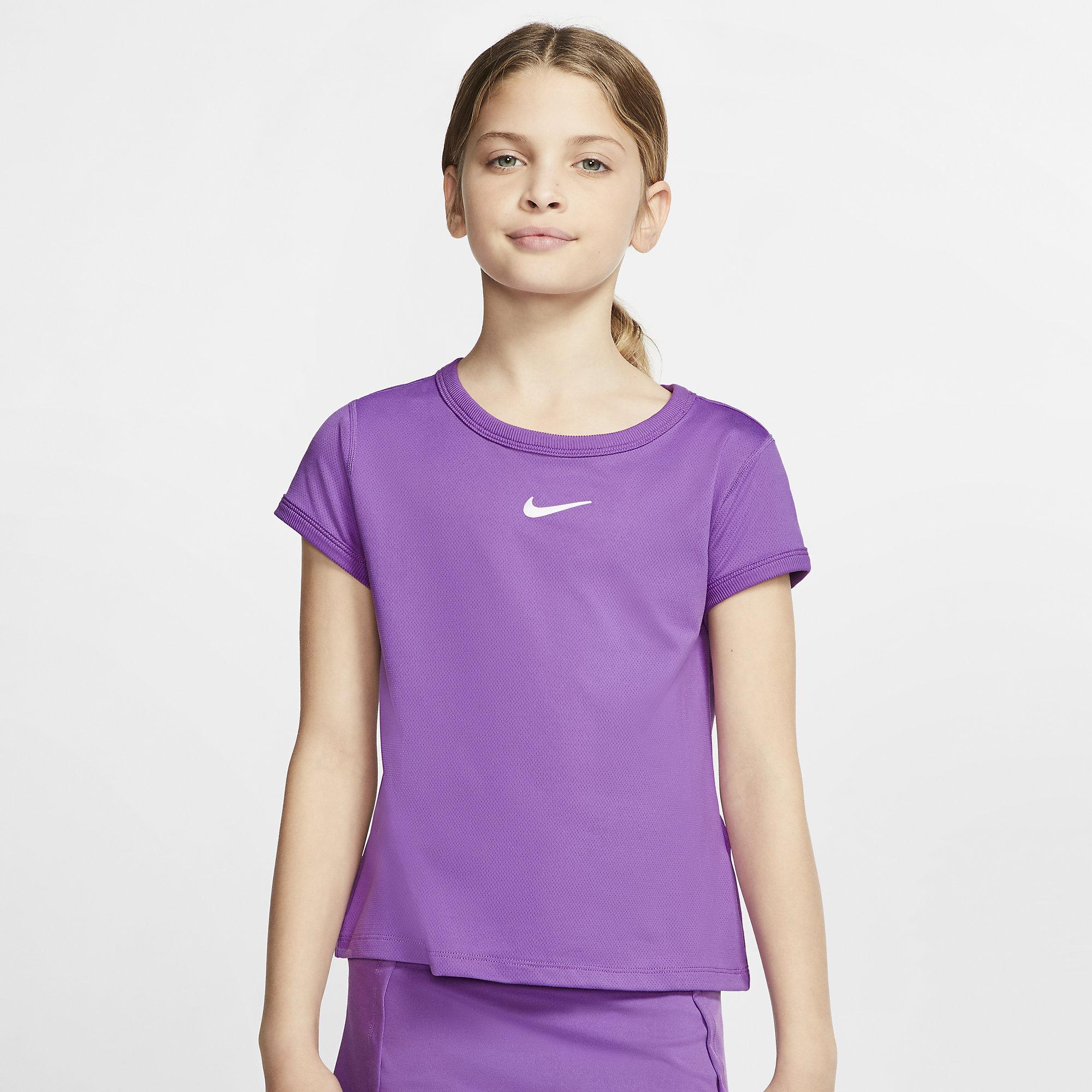 Nike Girls Dri-FIT Top - Purple Nebula