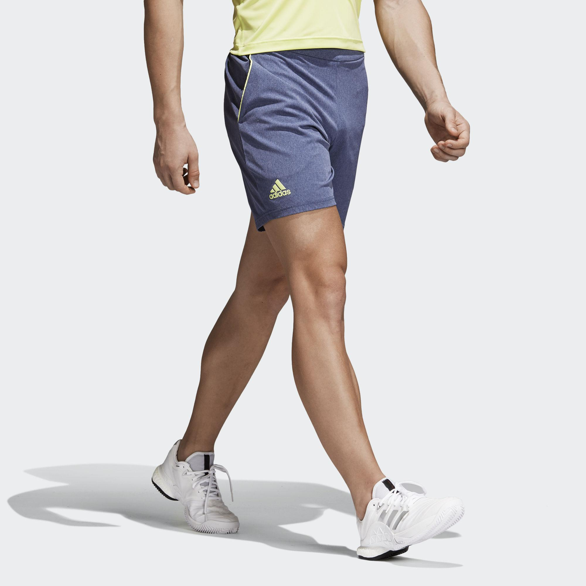 adidas mens melbourne tennis shorts - noble indigo