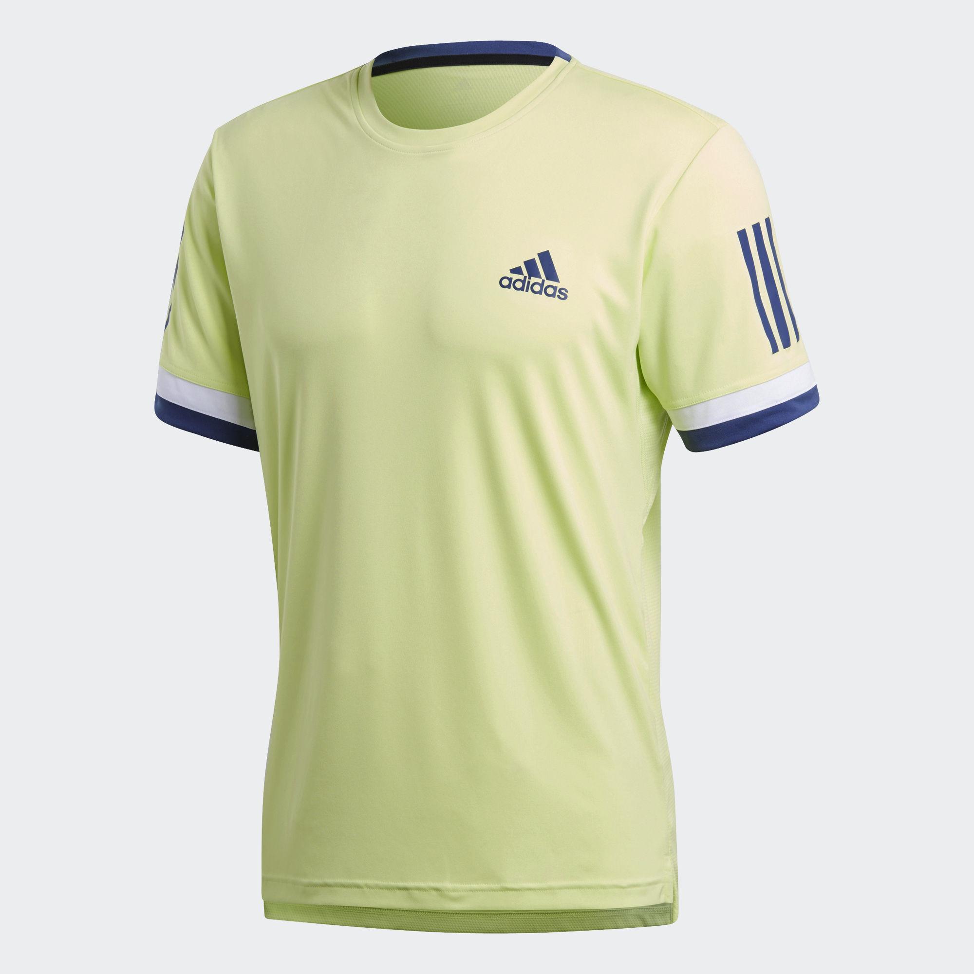 Adidas Mens 3-Stripes Club Tee - Semi