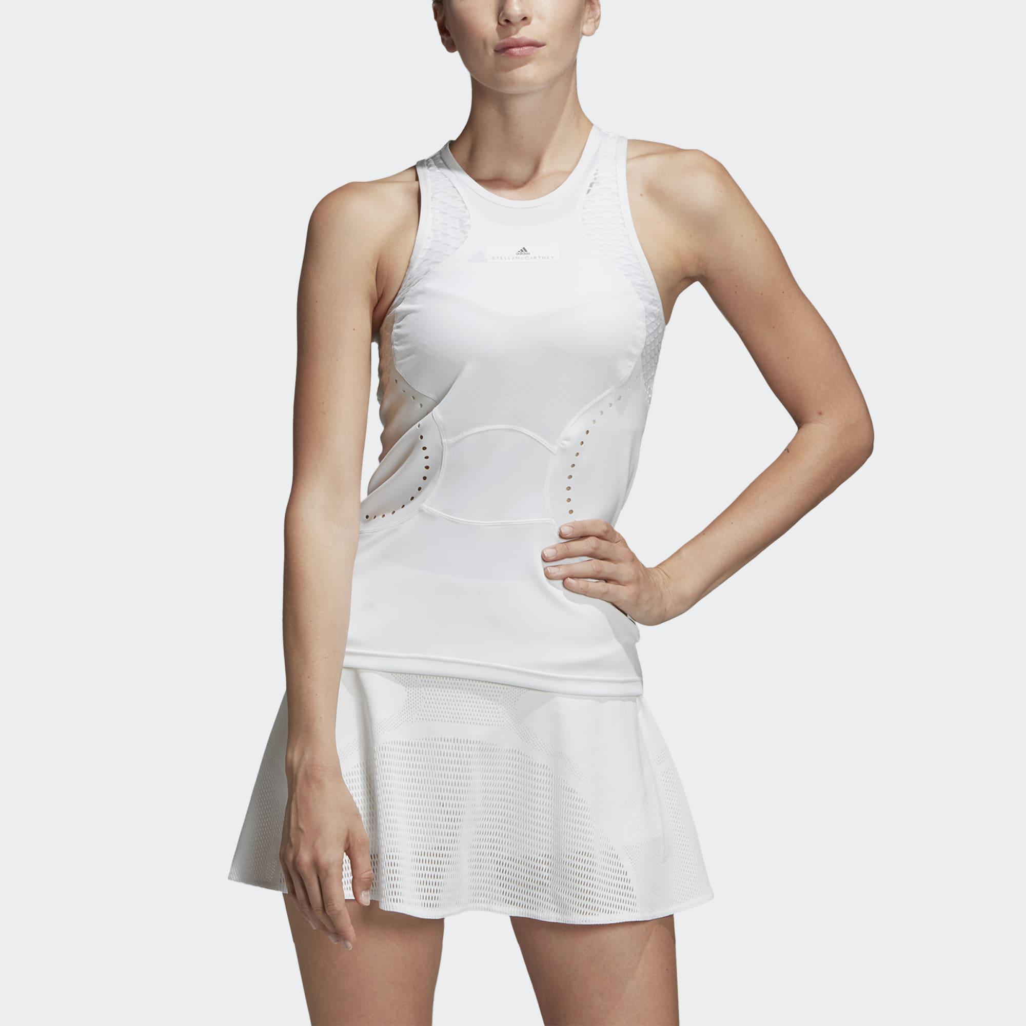 f3db38510ec Adidas Womens Stella McCartney Q3 Tank - White - Tennisnuts.com