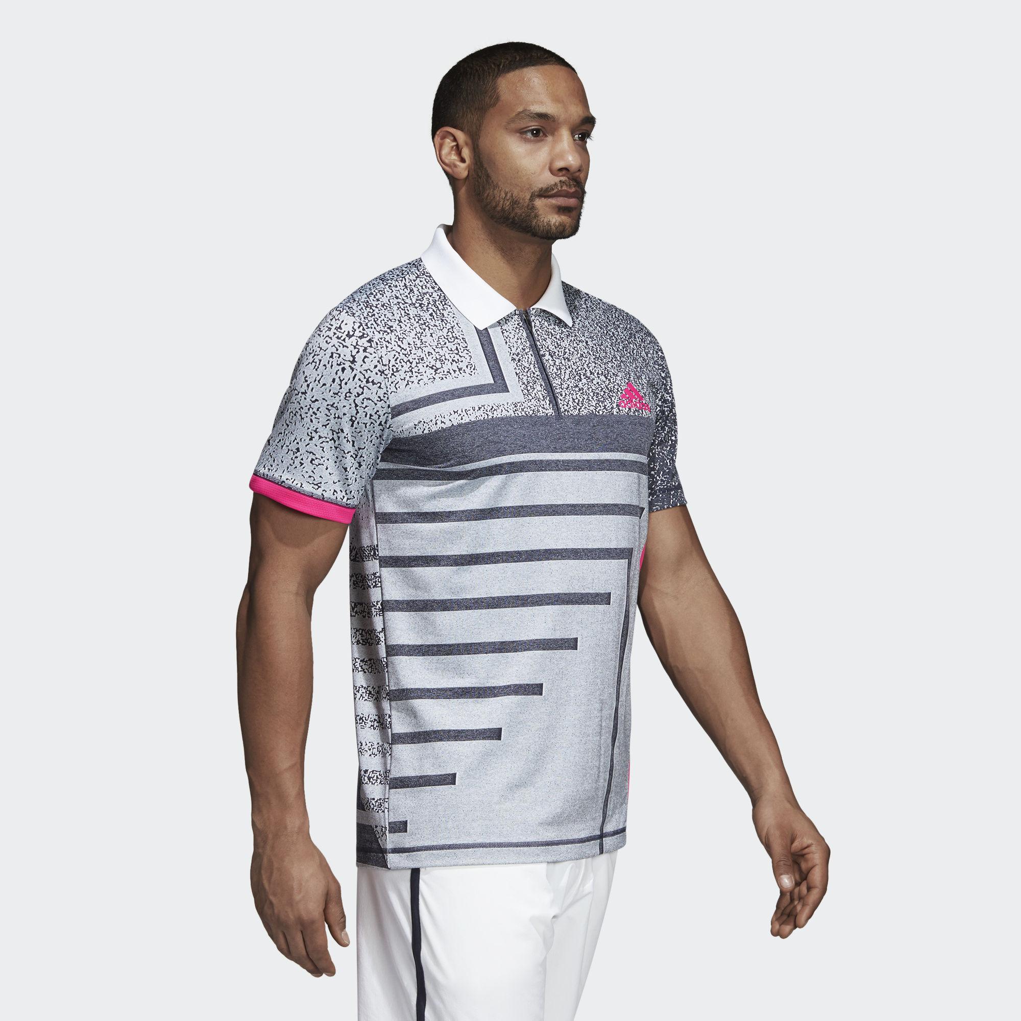 Polo Whiteshock Adidas Mens Rule9 Seasonal Pink D2W9HIeEY
