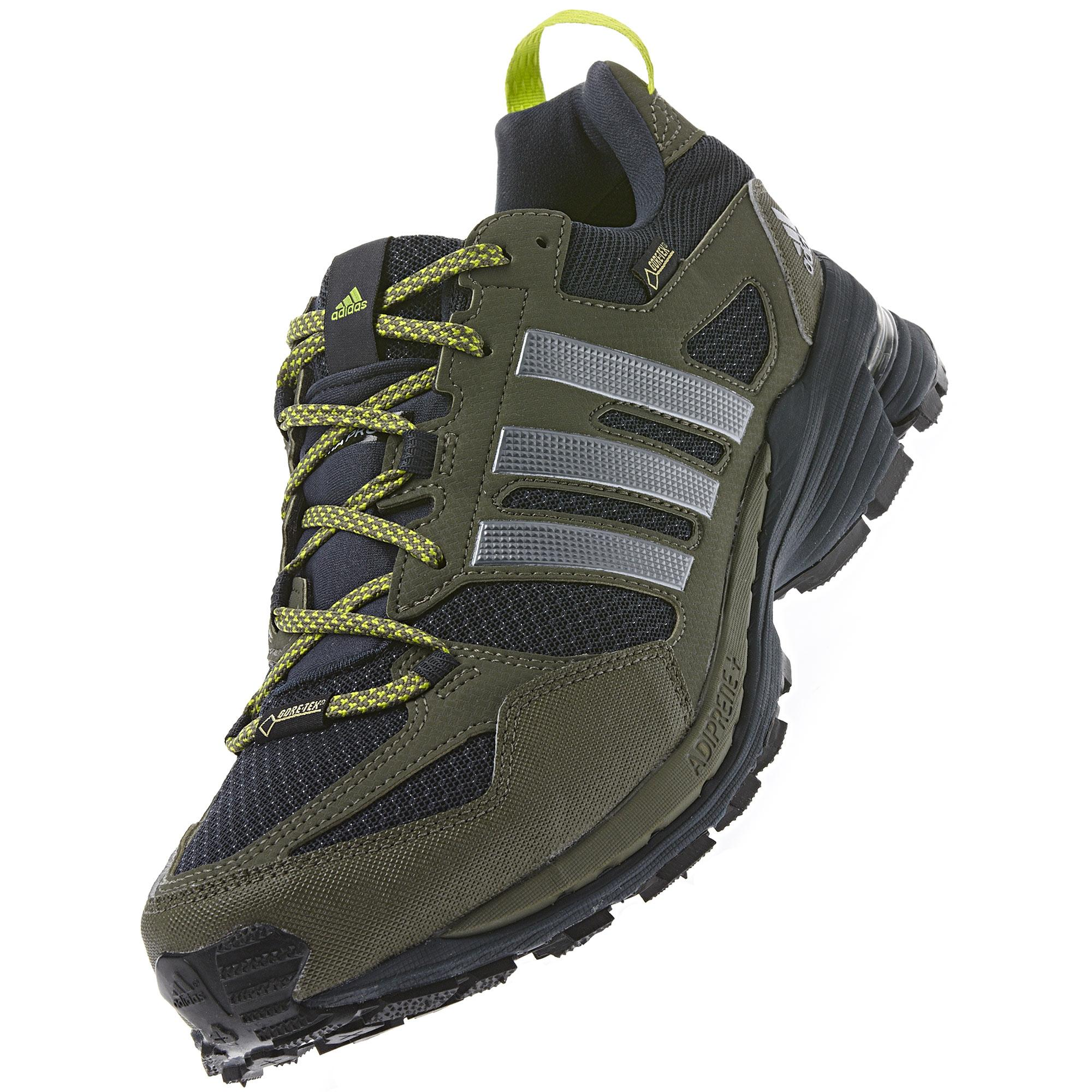 60791f0f6 Adidas Mens Supernova Riot 5 GTX Running Shoes - Green - Tennisnuts.com