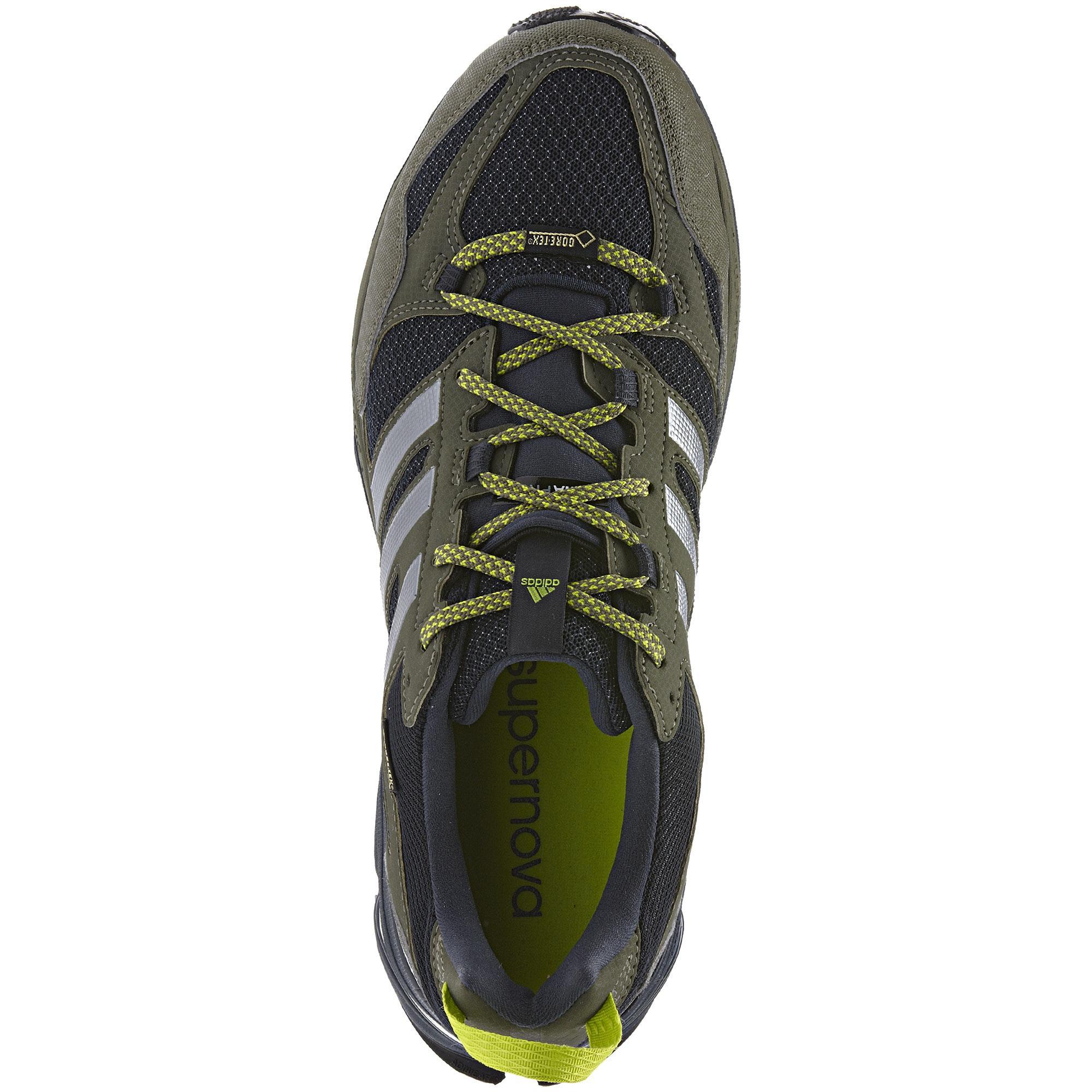 1577002be51e1 Adidas Mens Supernova Riot 5 GTX Running Shoes - Green - Tennisnuts.com