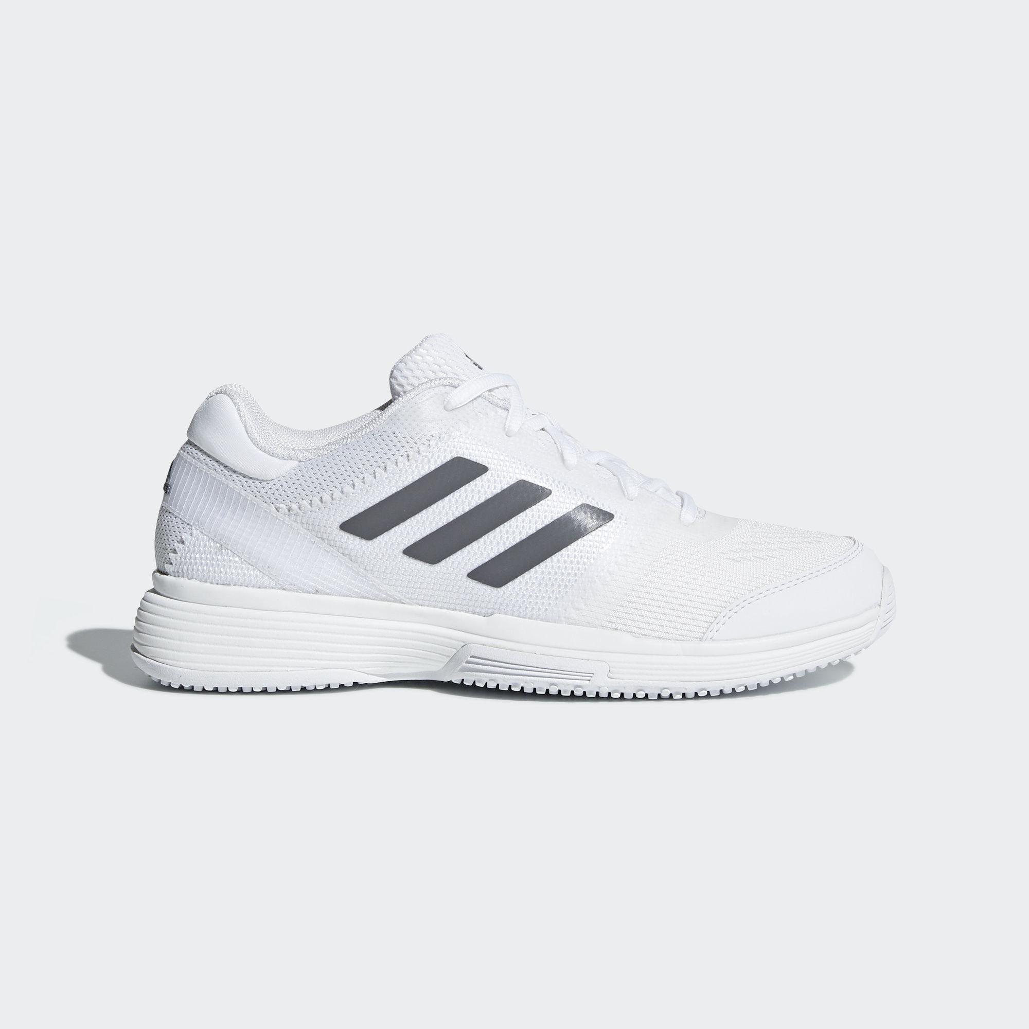 fde6c8e4e43b6f Adidas Womens Barricade 2018 Grass Court Tennis Shoes - White -  Tennisnuts.com