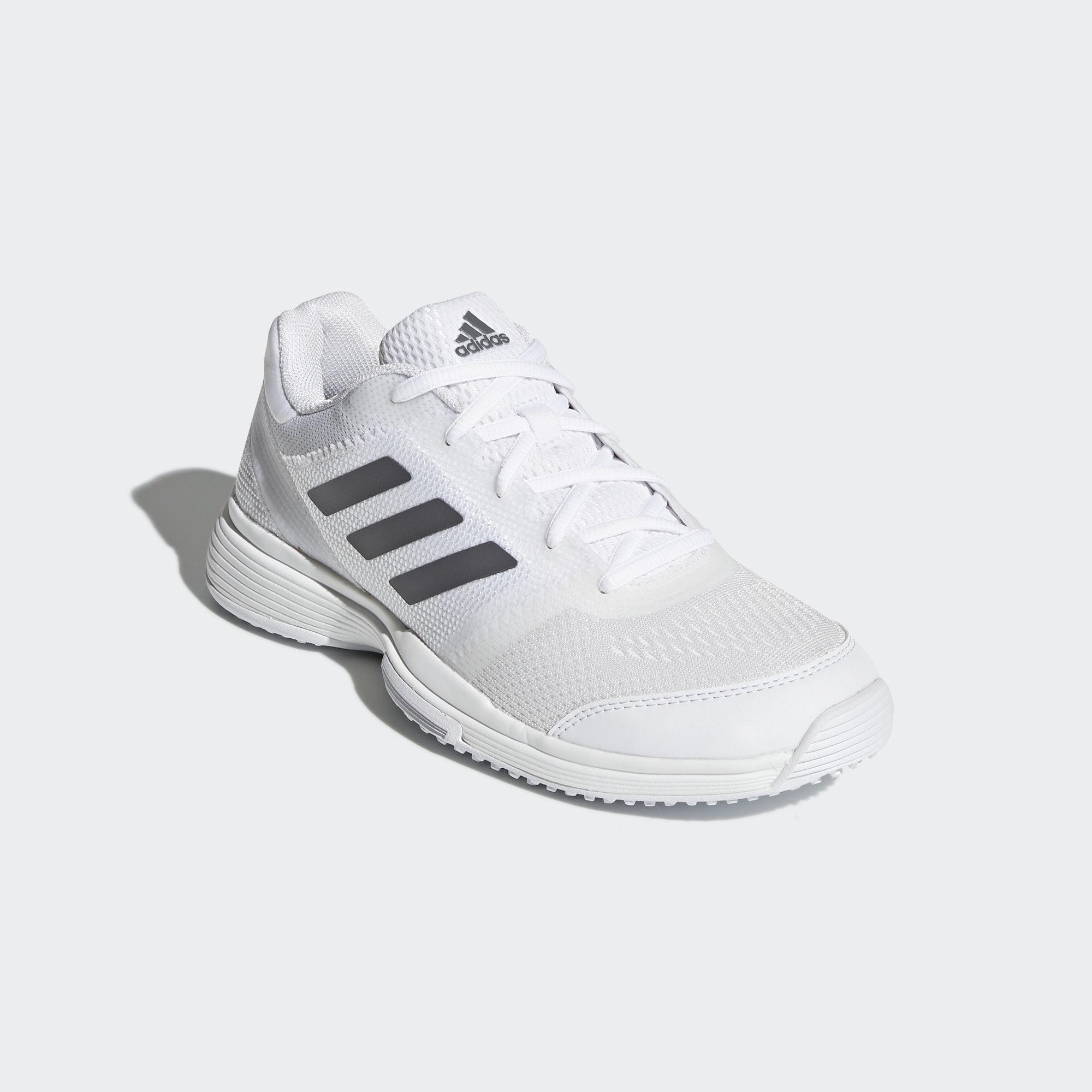 wholesale dealer c53cb 8b223 Adidas Womens Barricade 2018 Grass Court Tennis Shoes - White