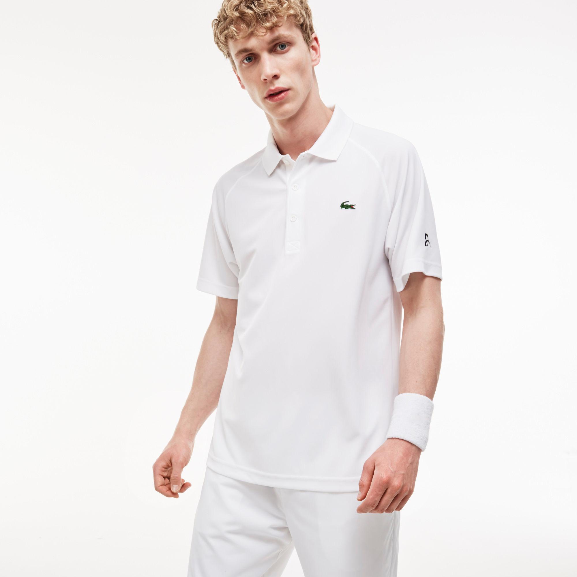 5a77d940f5e64 Lacoste Sport Mens Djokovic London Polo - White - Tennisnuts.com