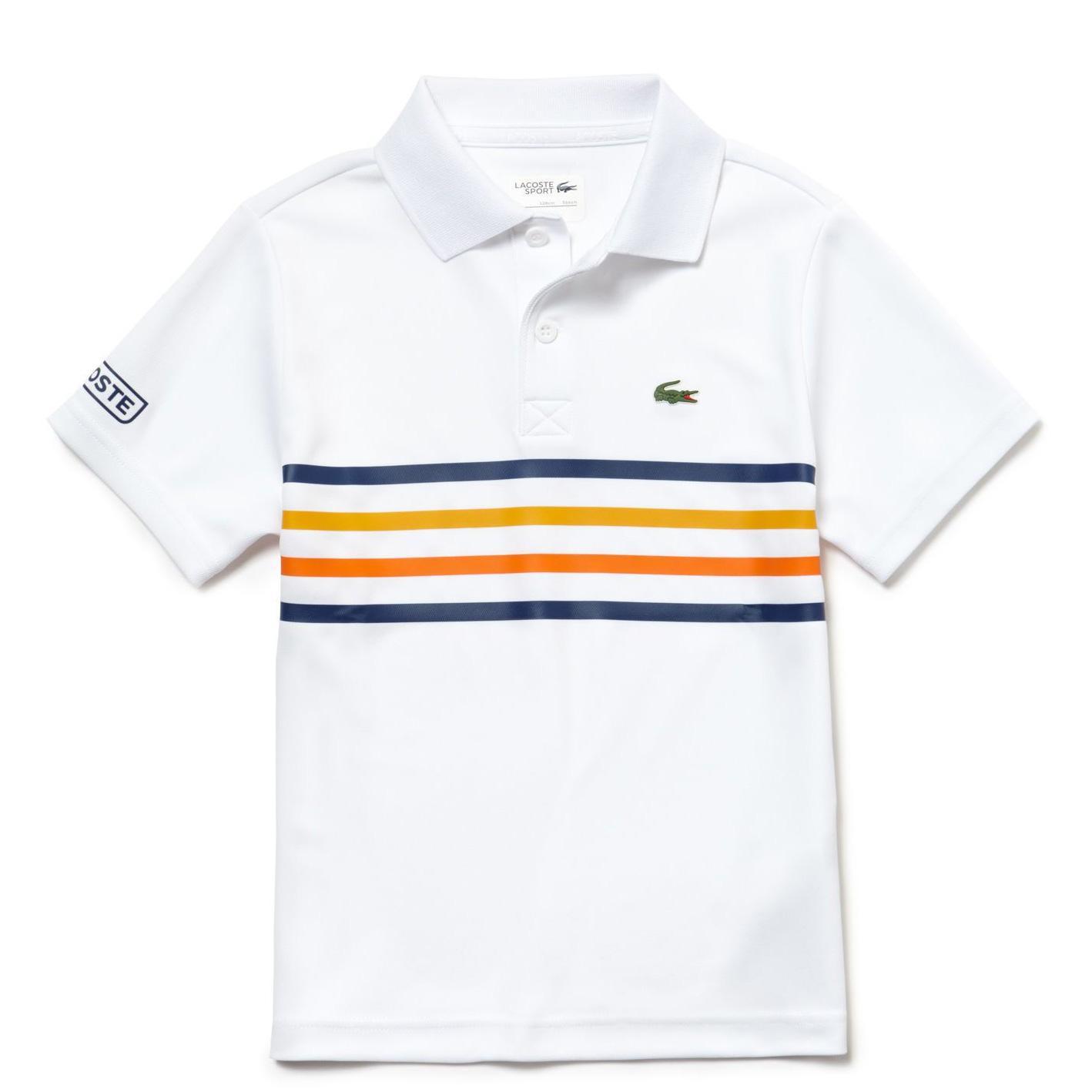 Lacoste Sport Boys Colour Block Polo - White Marino - Buttercup-Ap -  Tennisnuts.com 3ad4fe491cf