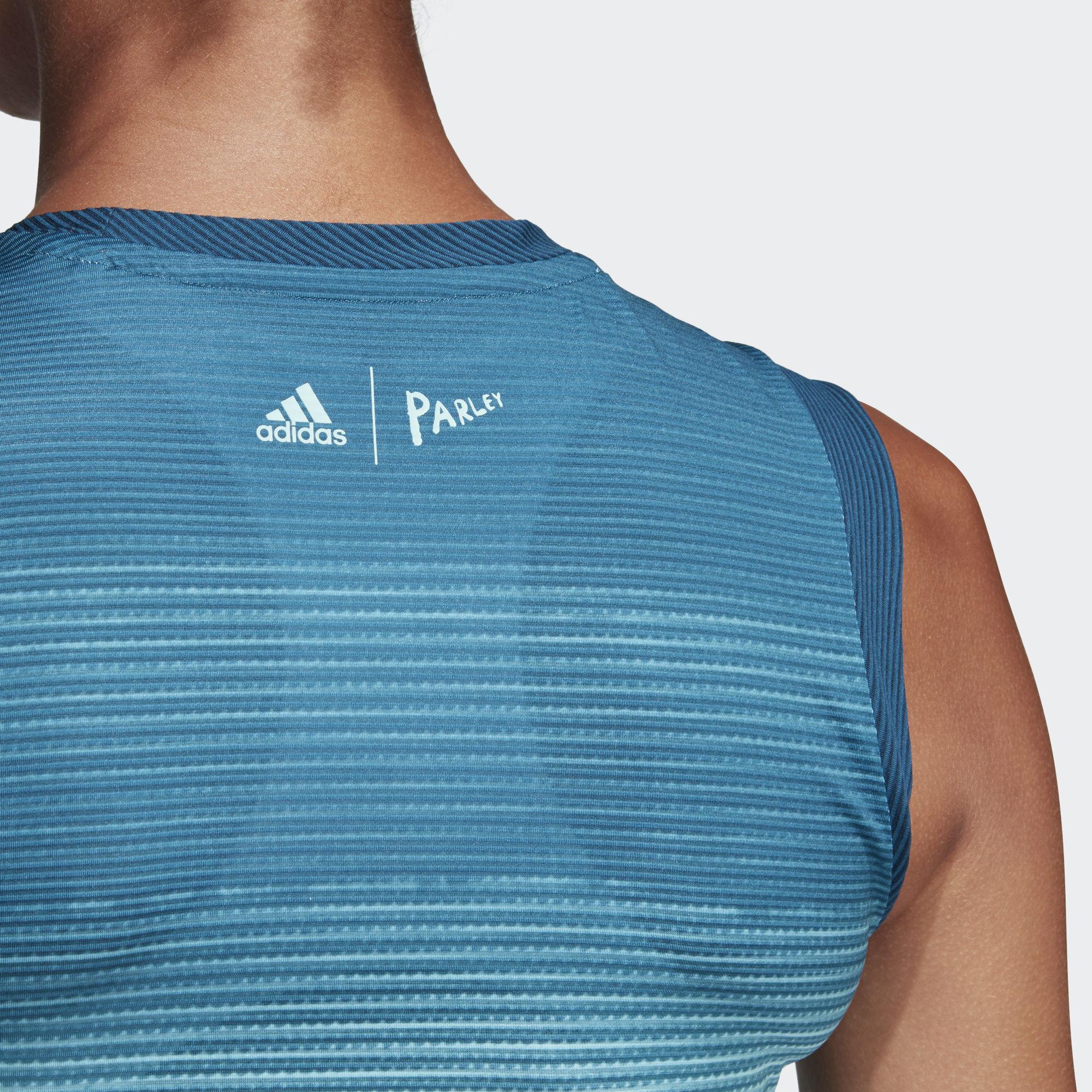 0de7bd0918c Adidas Womens Parley Tank - Blue Spirit/White - Tennisnuts.com