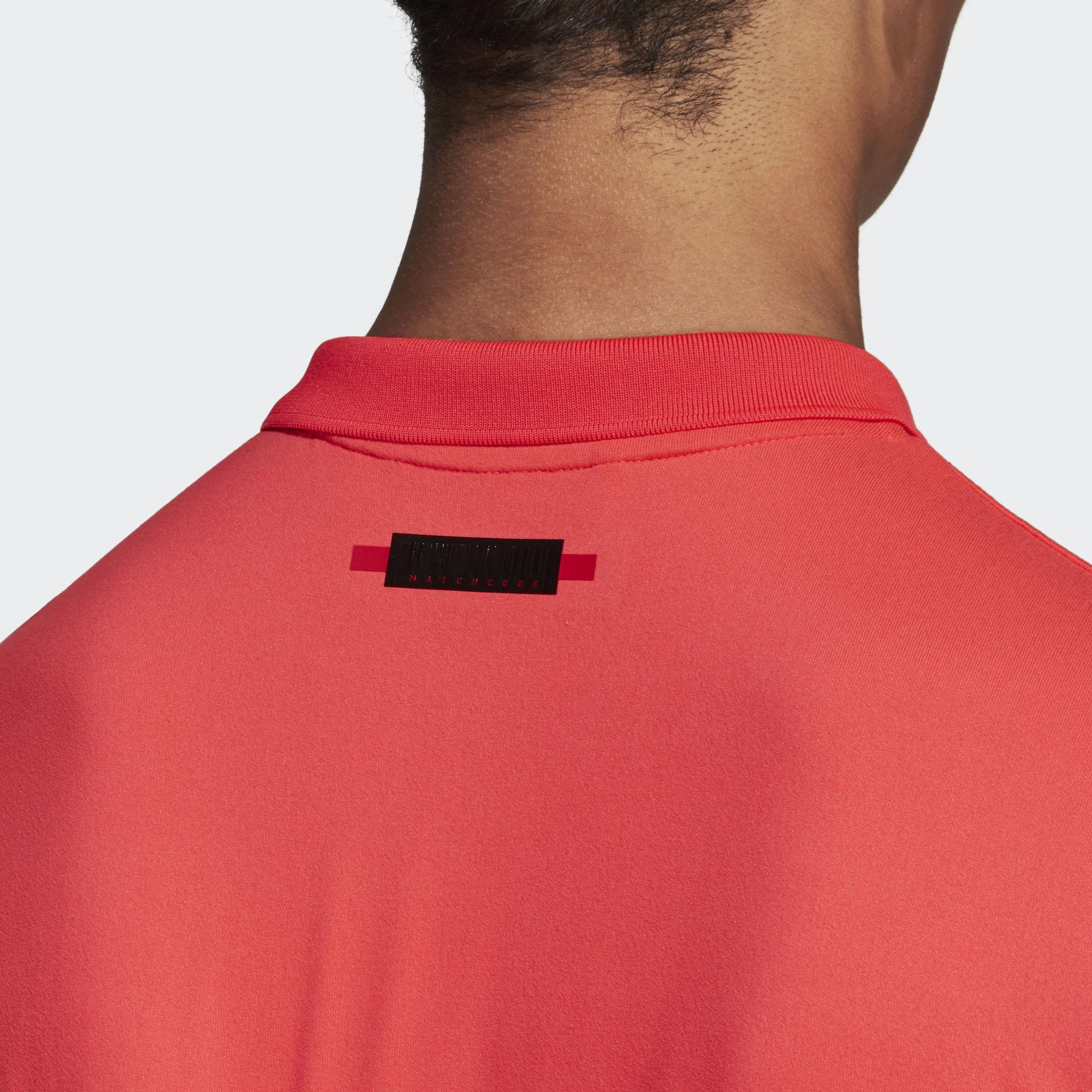 Adidas Mens MatchCode Polo Shirt - Shock Red Night Met - Tennisnuts.com 5e74faa45bfb9