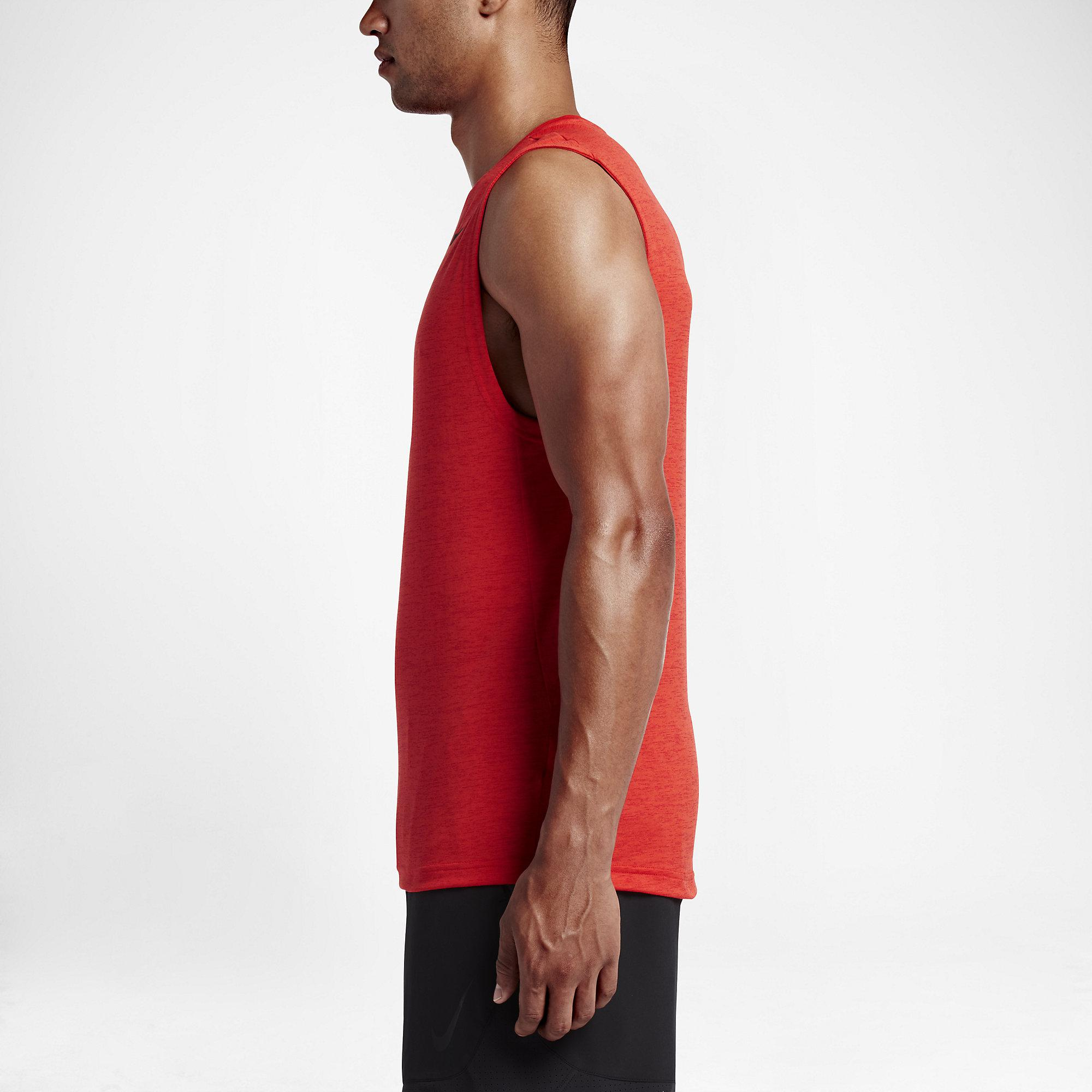 dda24a1cca07 Nike Mens Dry Training Tank Top - University Red Light Crimson ...