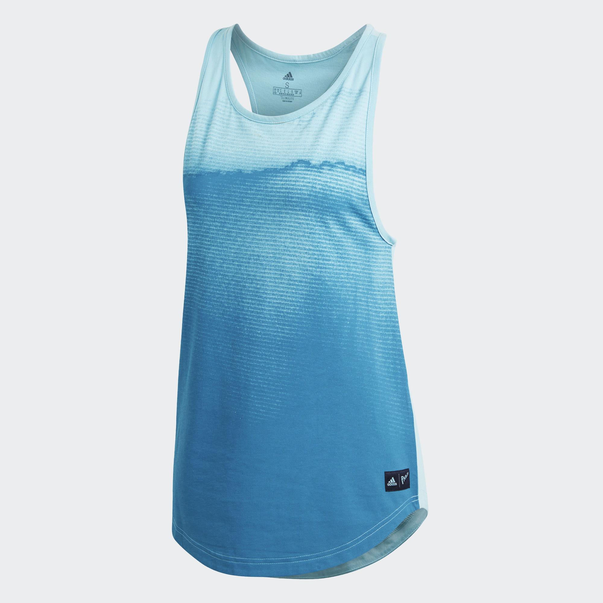 a0597fb03df Adidas Womens Parley Tank - Blue Spirit - Tennisnuts.com
