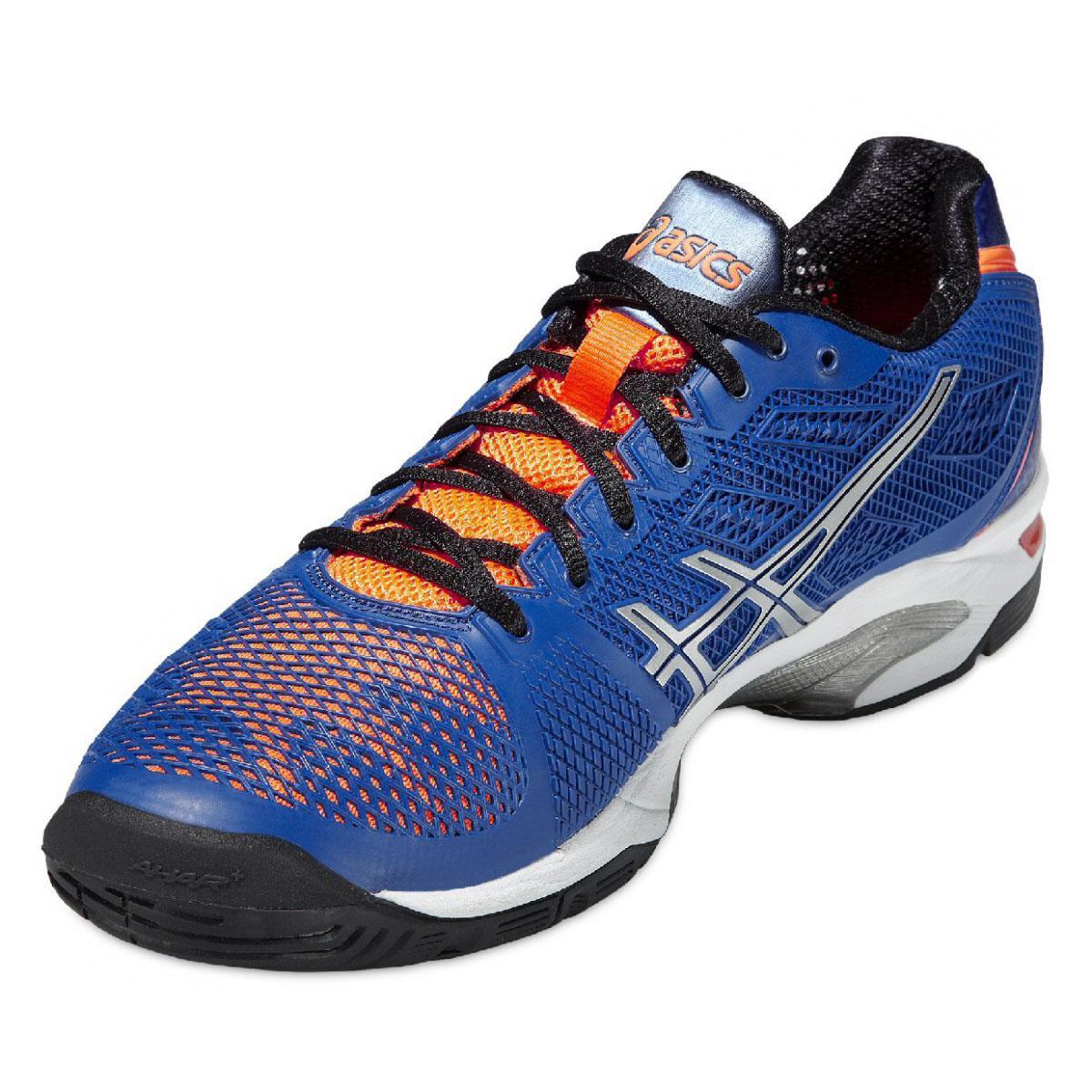 asics mens gel solution speed 2 tennis shoes blue flash. Black Bedroom Furniture Sets. Home Design Ideas