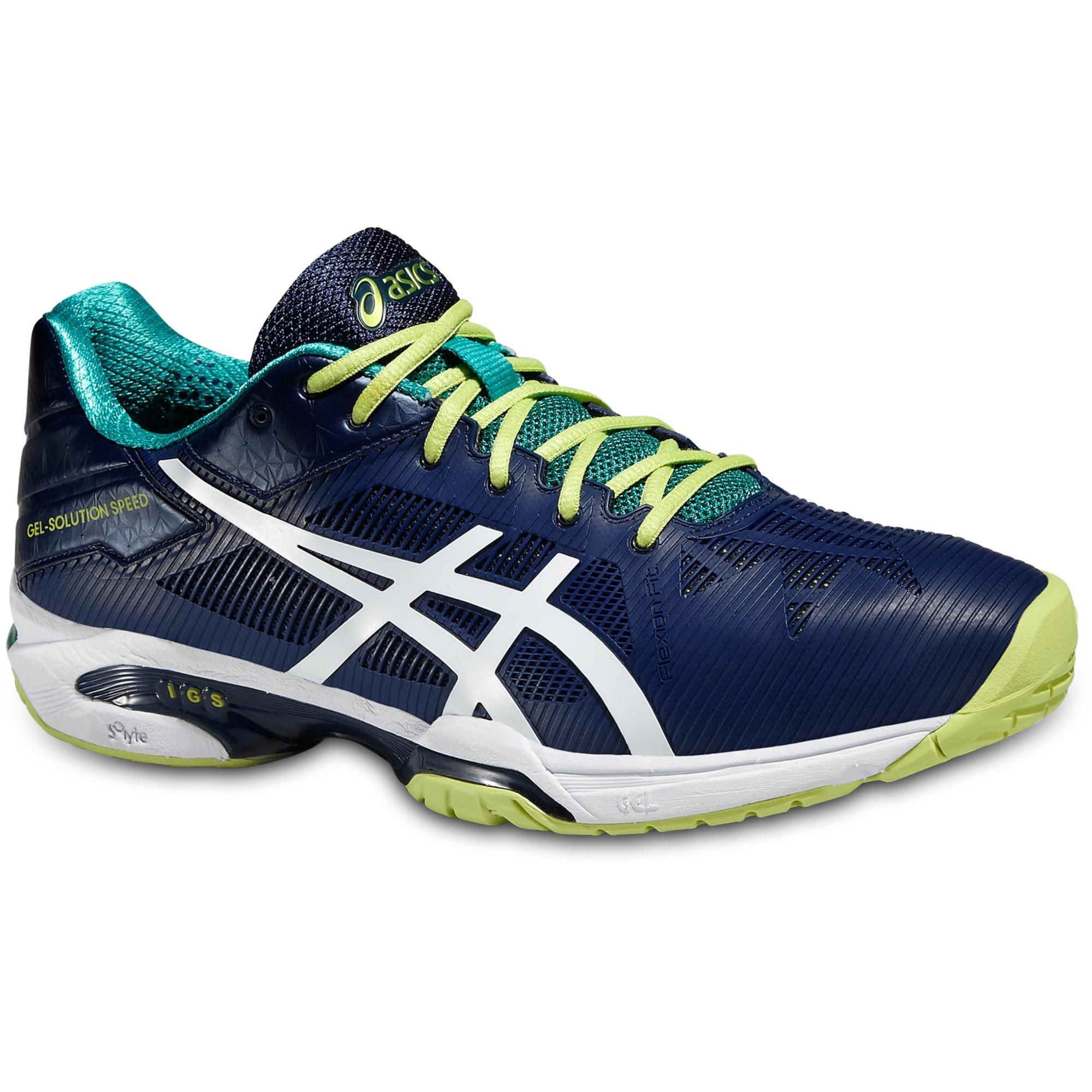 Asics Mens GEL Solution Speed 3 Tennis Shoes BlueWhiteLime