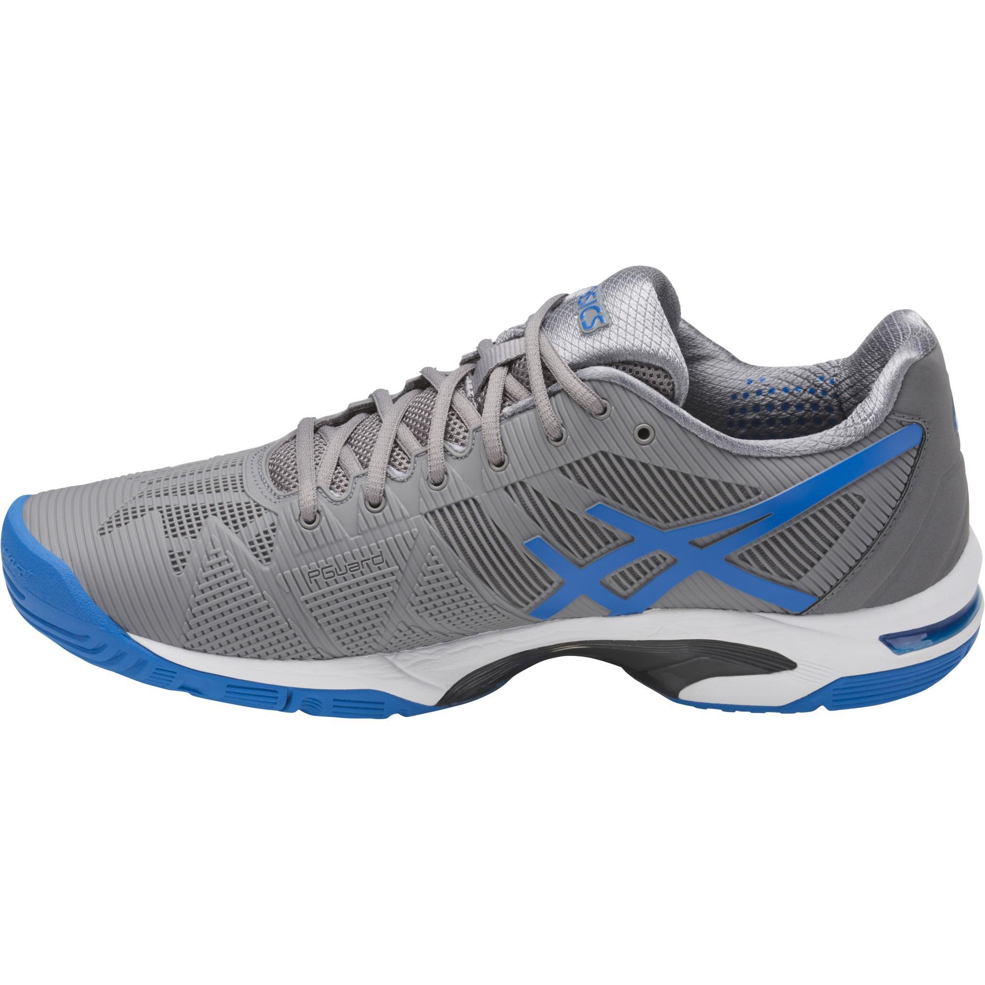 innovative design 59cdc 0c134 Asics Mens GEL-Solution Speed 3 Tennis Shoes - Grey Blue
