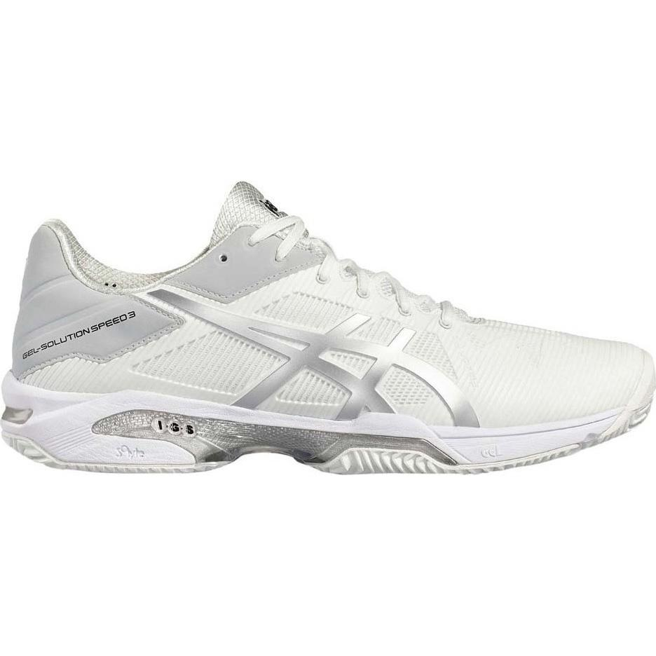 a024c379 Asics Mens GEL-Solution Speed 3 Clay Court Tennis Shoes - White/Silver