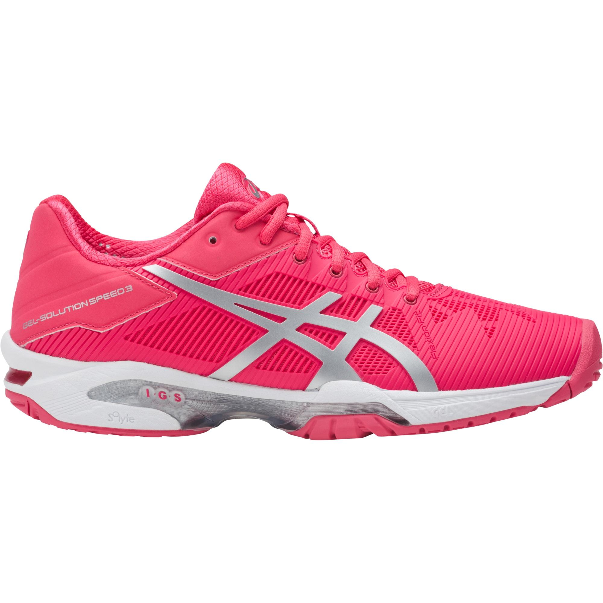 asics womens gelsolution speed 3 tennis shoes rouge red