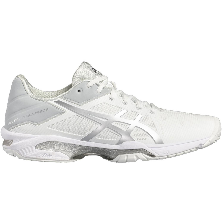 392f9e6deade7 Asics Womens GEL-Solution Speed 3 Tennis Shoes - White/Silver