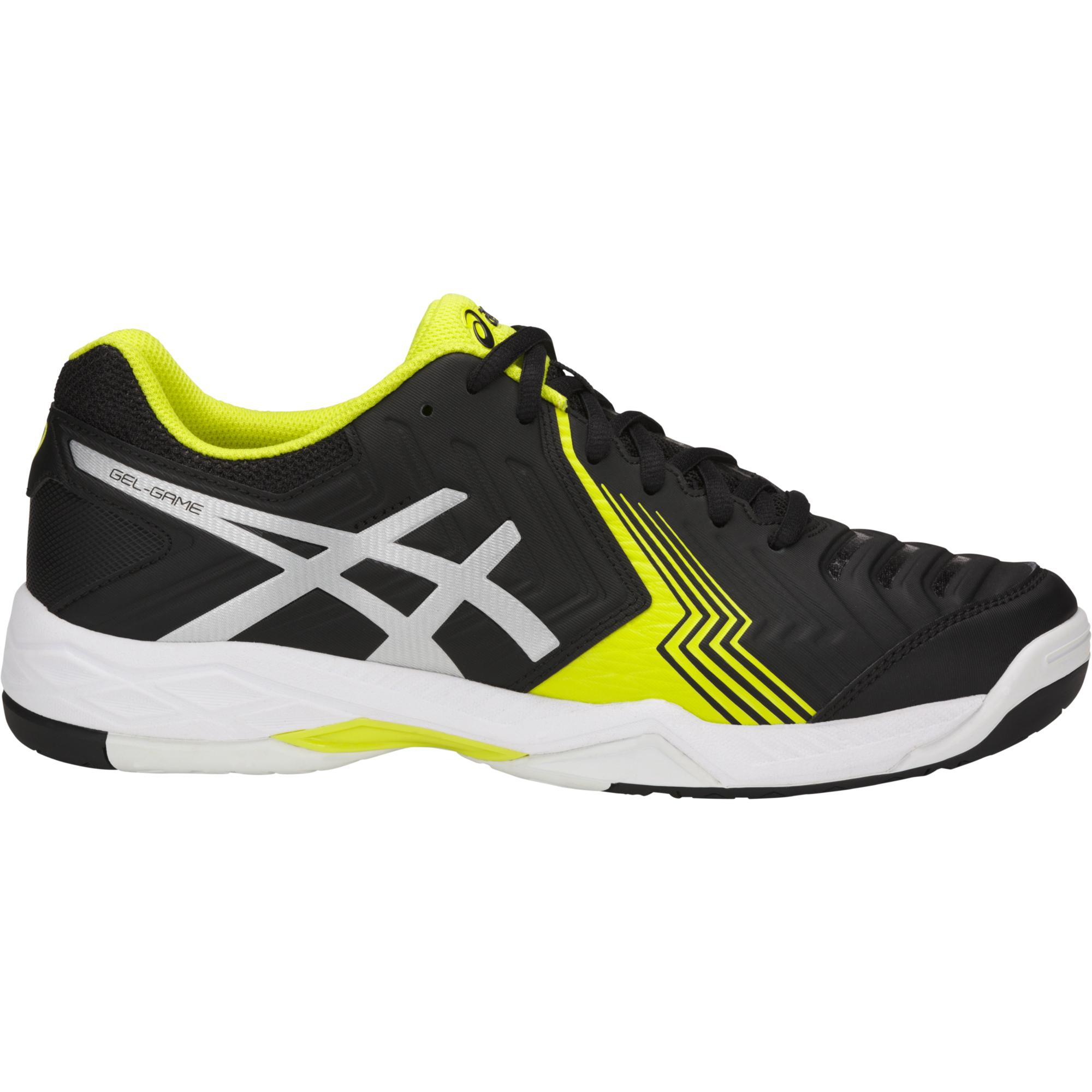 Asics Mens GEL-Game 6 Tennis Shoes - Black/Silver/Sulphur Spring