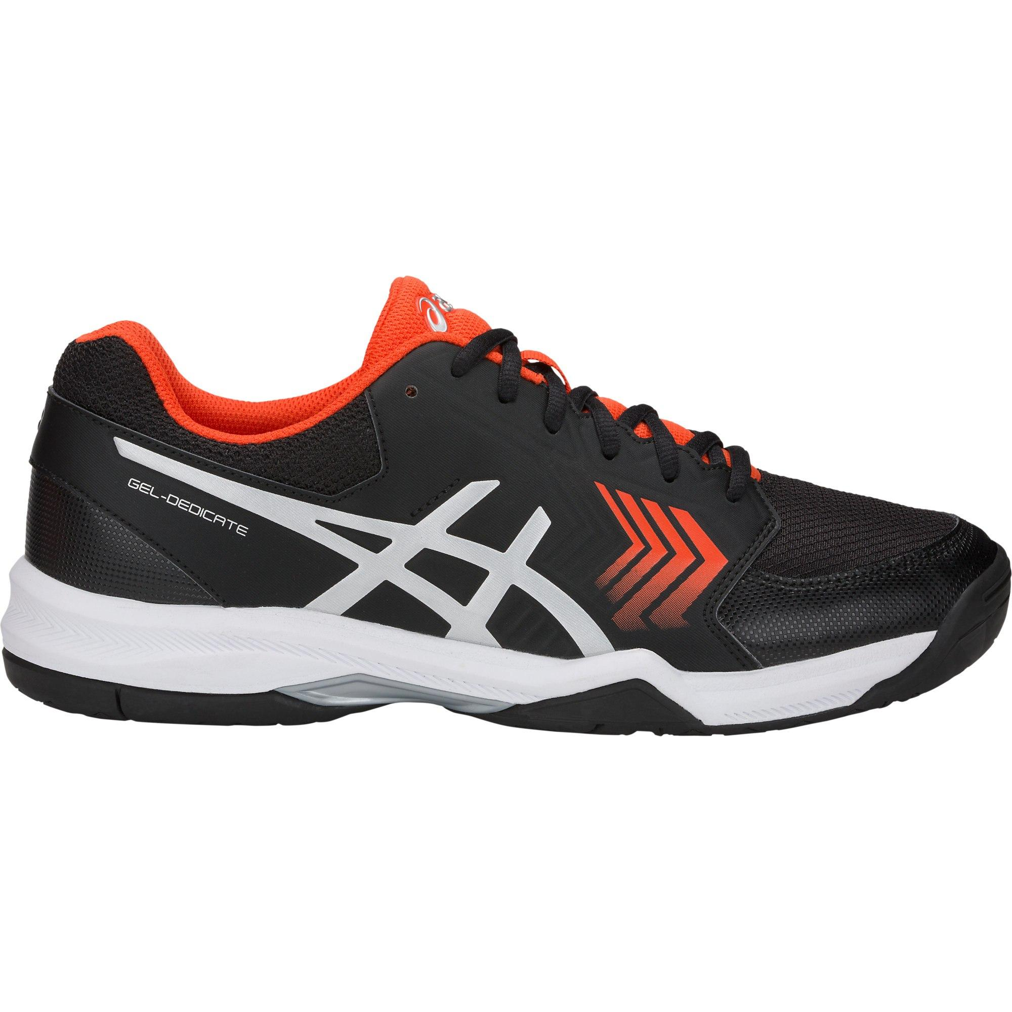 info for 20c1d 05930 Asics Mens GEL-Dedicate 5 Tennis Shoes - Black Silver - Tennisnuts.com