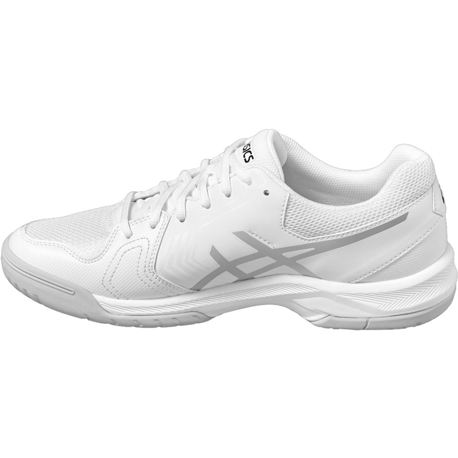48b5a82dafbc Asics Mens GEL-Dedicate 5 Tennis Shoes - White Silver - Tennisnuts.com